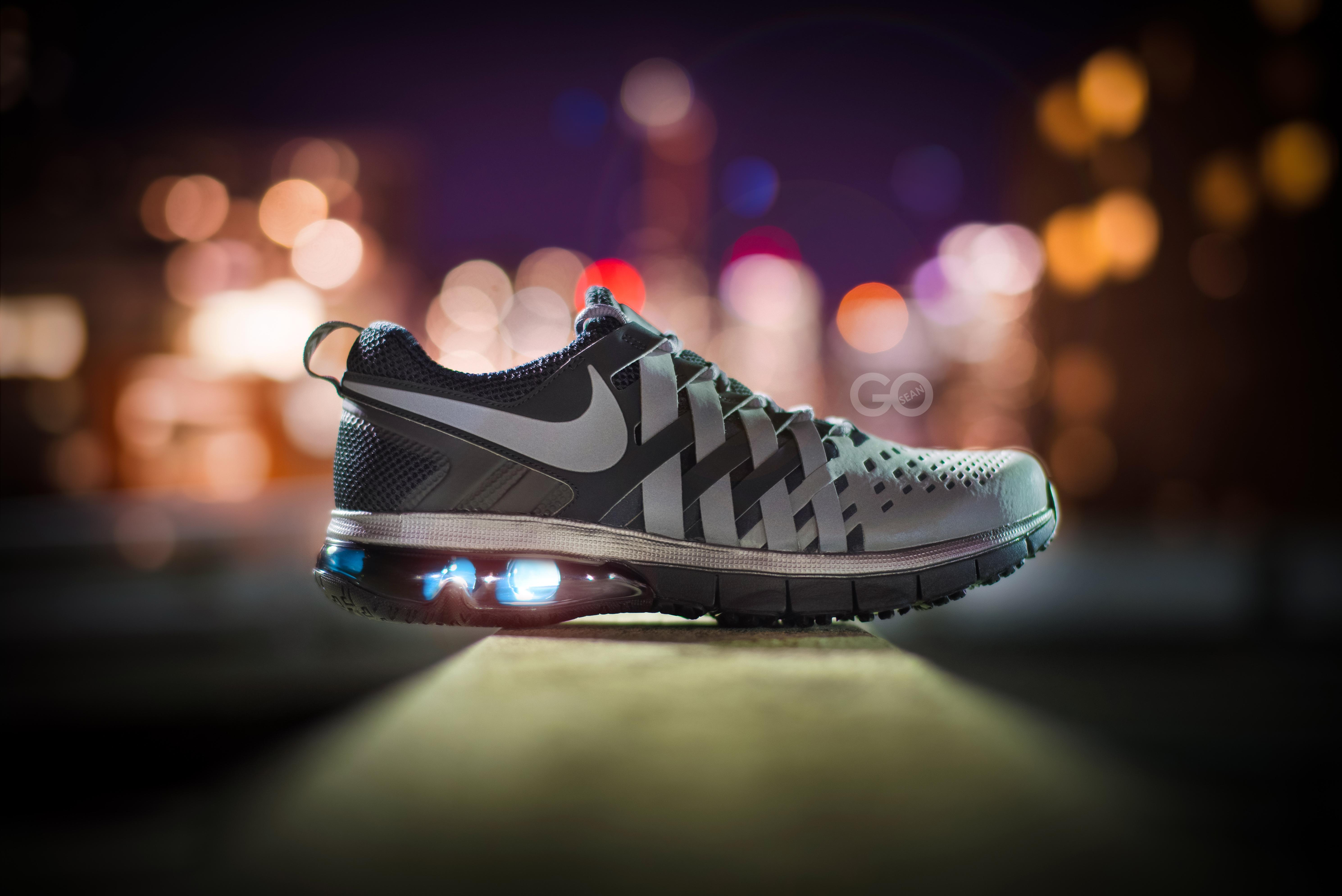 Wallpaper Nike lights black city night space photography