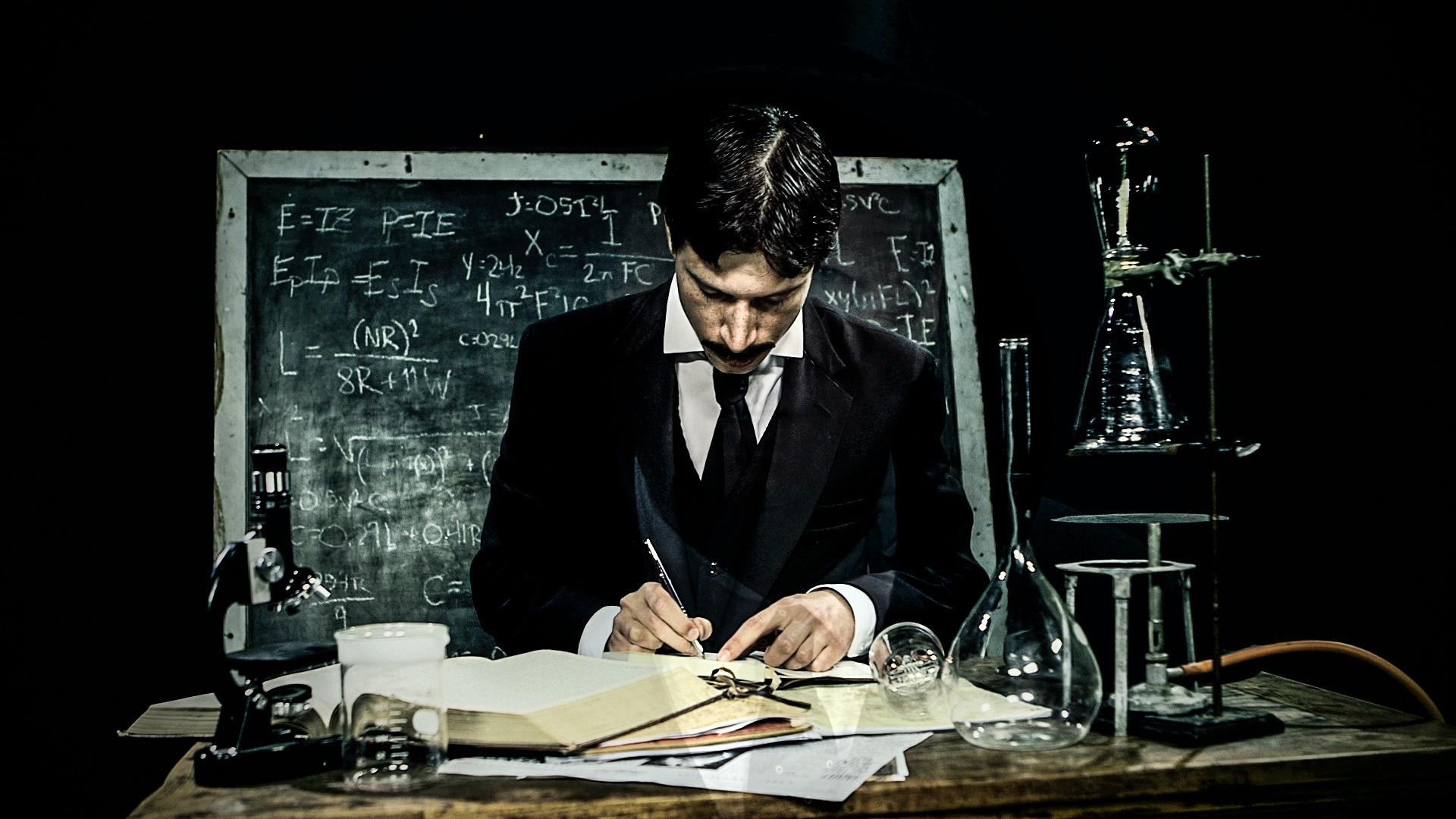 Fondos De Pantalla Nikola Tesla Científicos Escenario