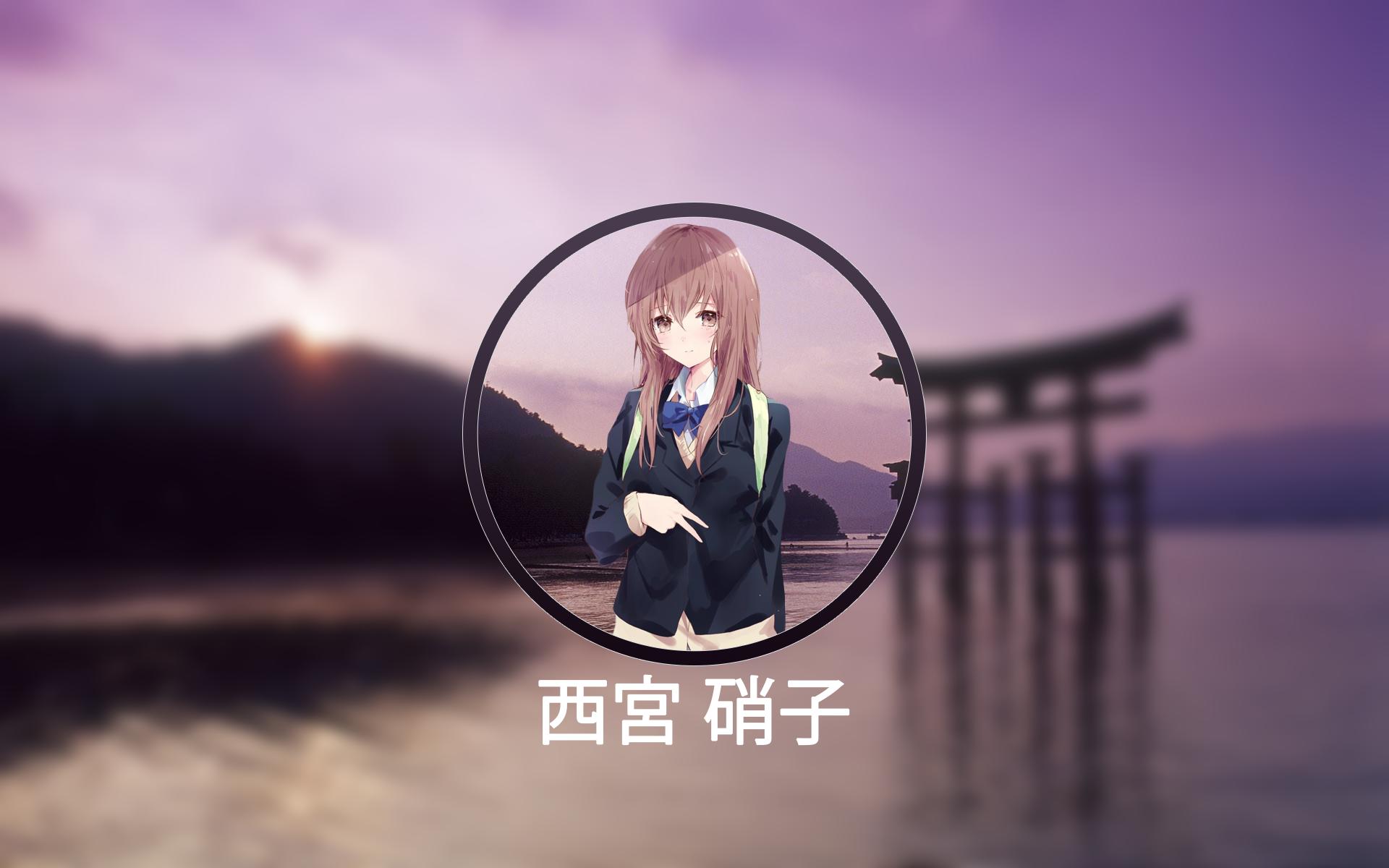 デスクトップ壁紙 Nishimiya Shouko Koe No Katachi アニメ 日本