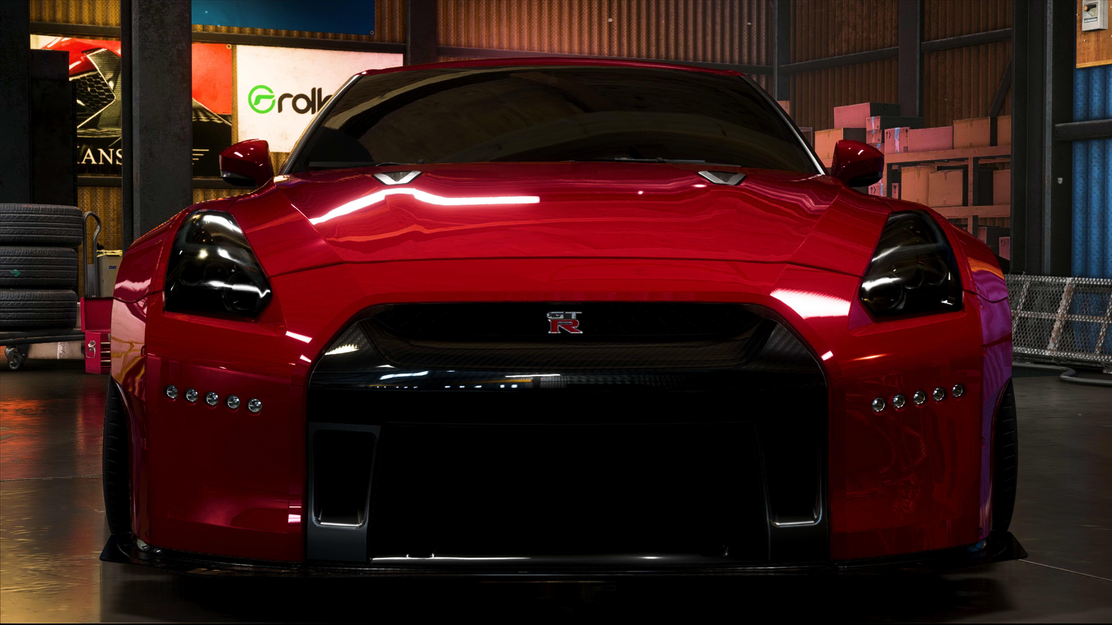 Nissan GTR Rocket Bunny Red Car