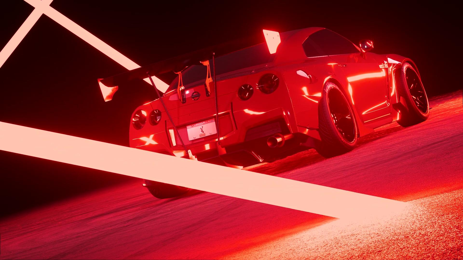 Nissan GTR Red Rocket Bunny
