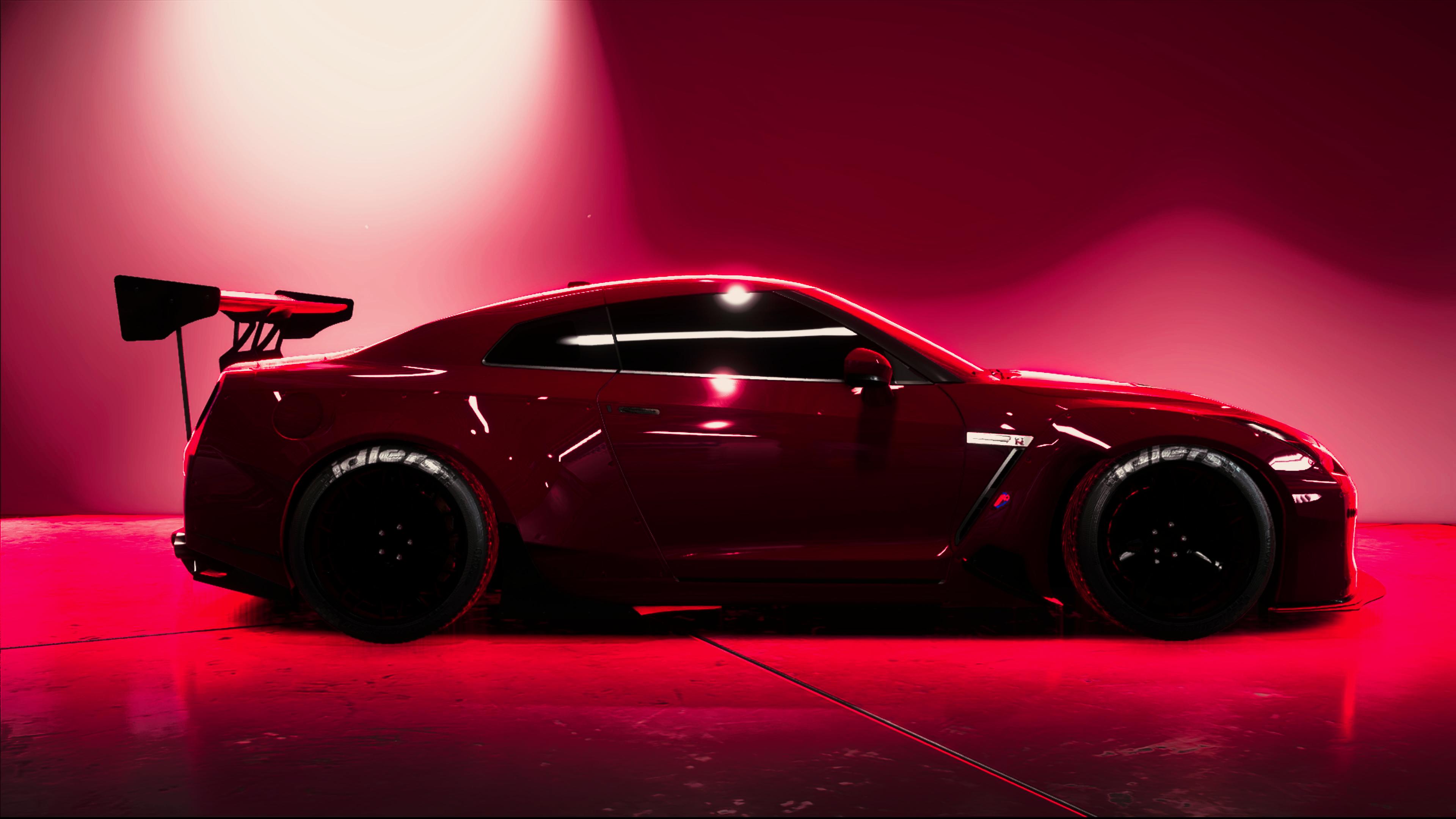 Nissan GTR Red Rocket Bunny Car