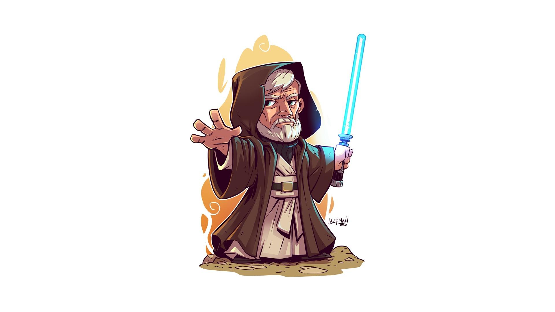 Wallpaper Obi Wan Kenobi Star Wars Artwork Simple Background