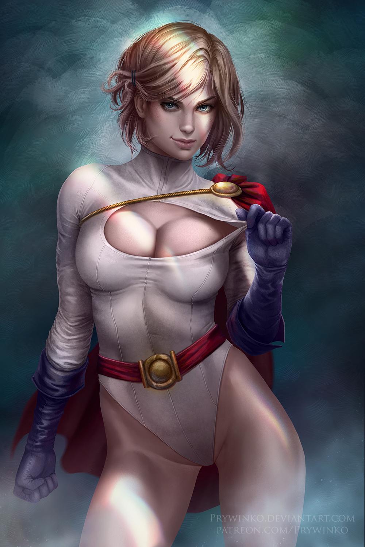 wallpaper : olga narhova, power girl, dc comics, blonde, cleavage