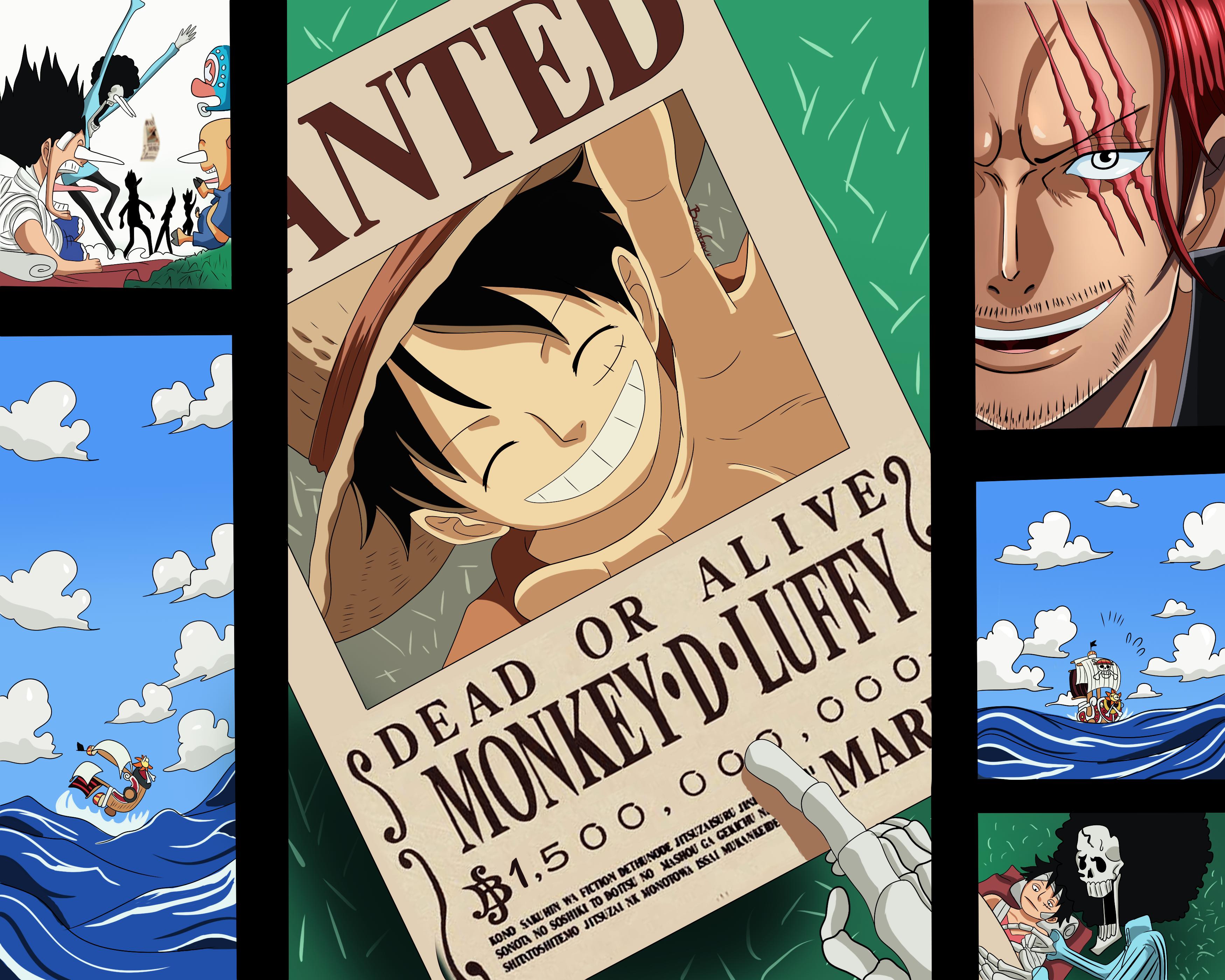 Wallpaper One Piece Brook Carrot Monkey D Luffy Nami Sanji