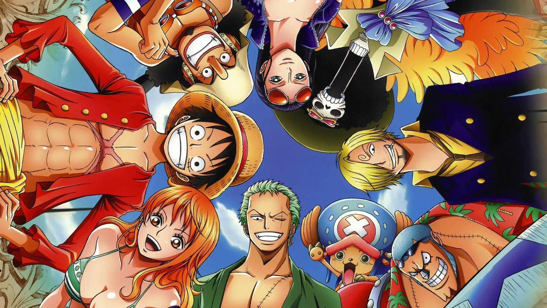 Wallpaper One Piece Monkey D Luffy Roronoa Zoro Sanji