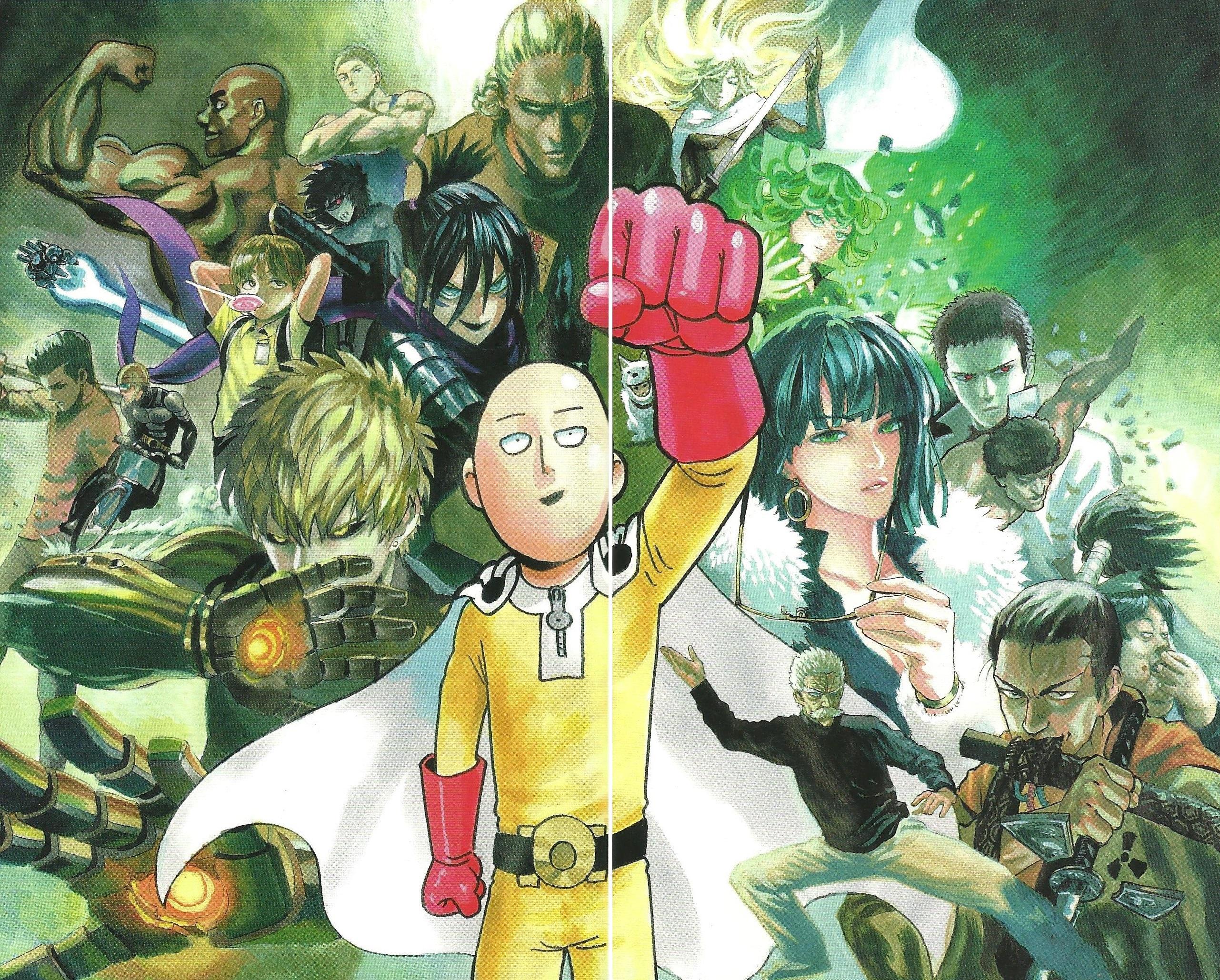 Wallpaper One Punch Man Yusuke Murata Saitama Genos