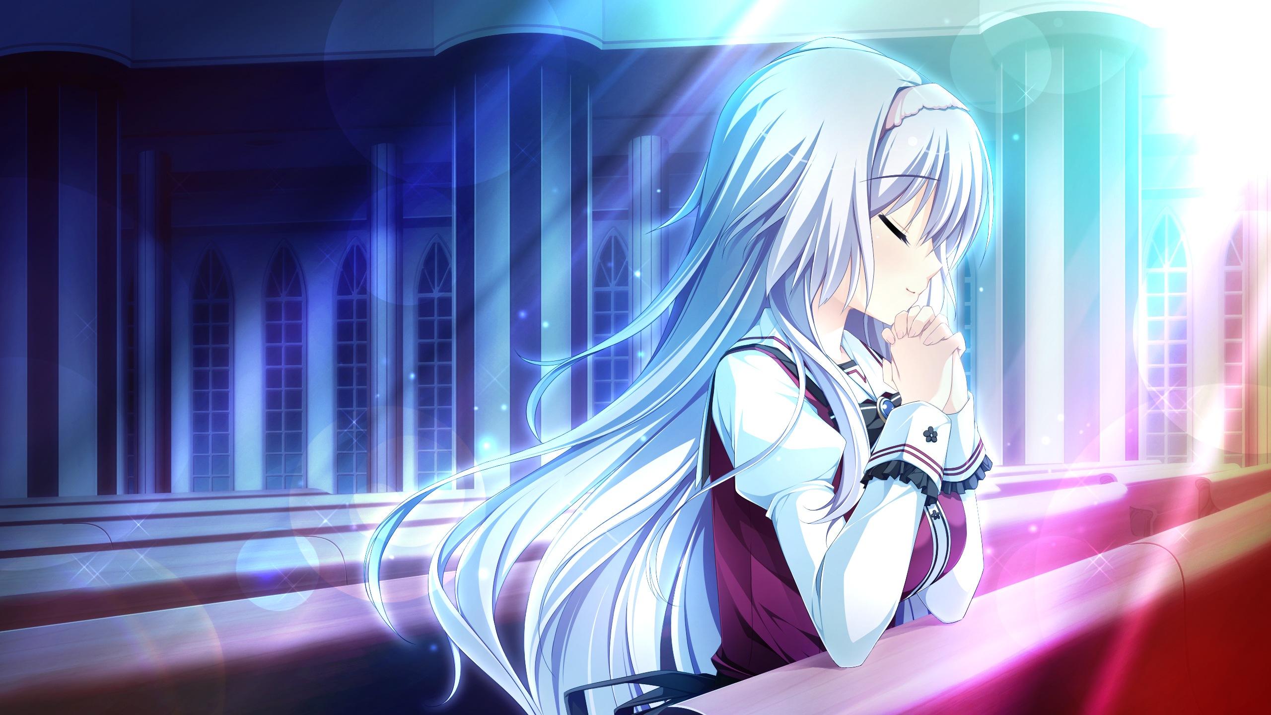 Otome ga Tsumugu Koi no Canvas girl anime prayer