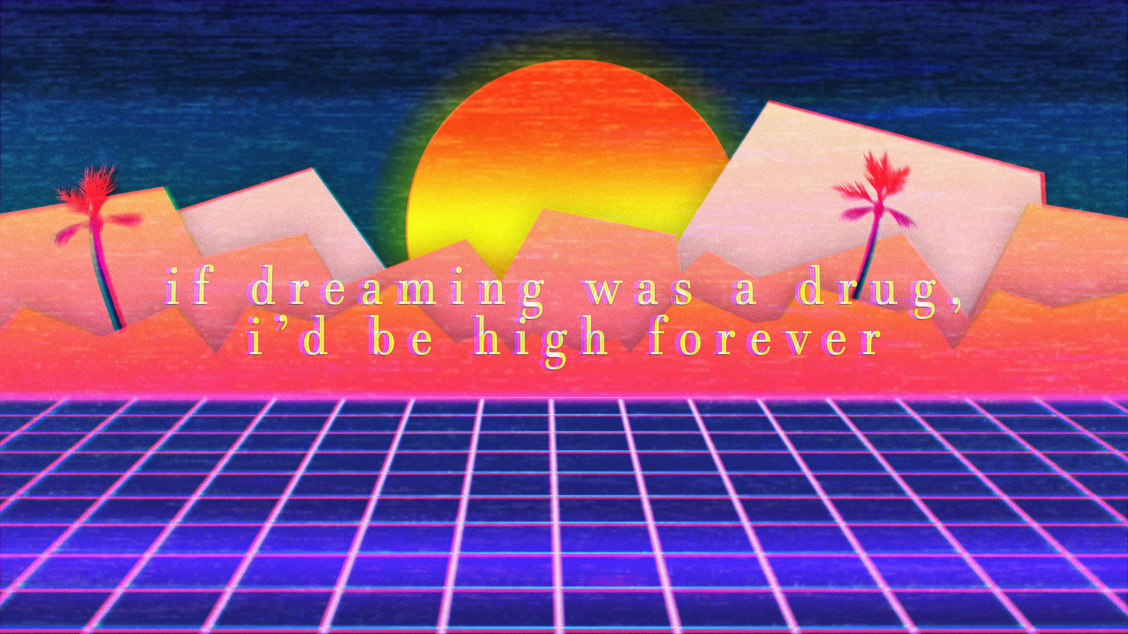 Wallpaper Outrun Sunset Vaporwave 3840x2160 Pokertour