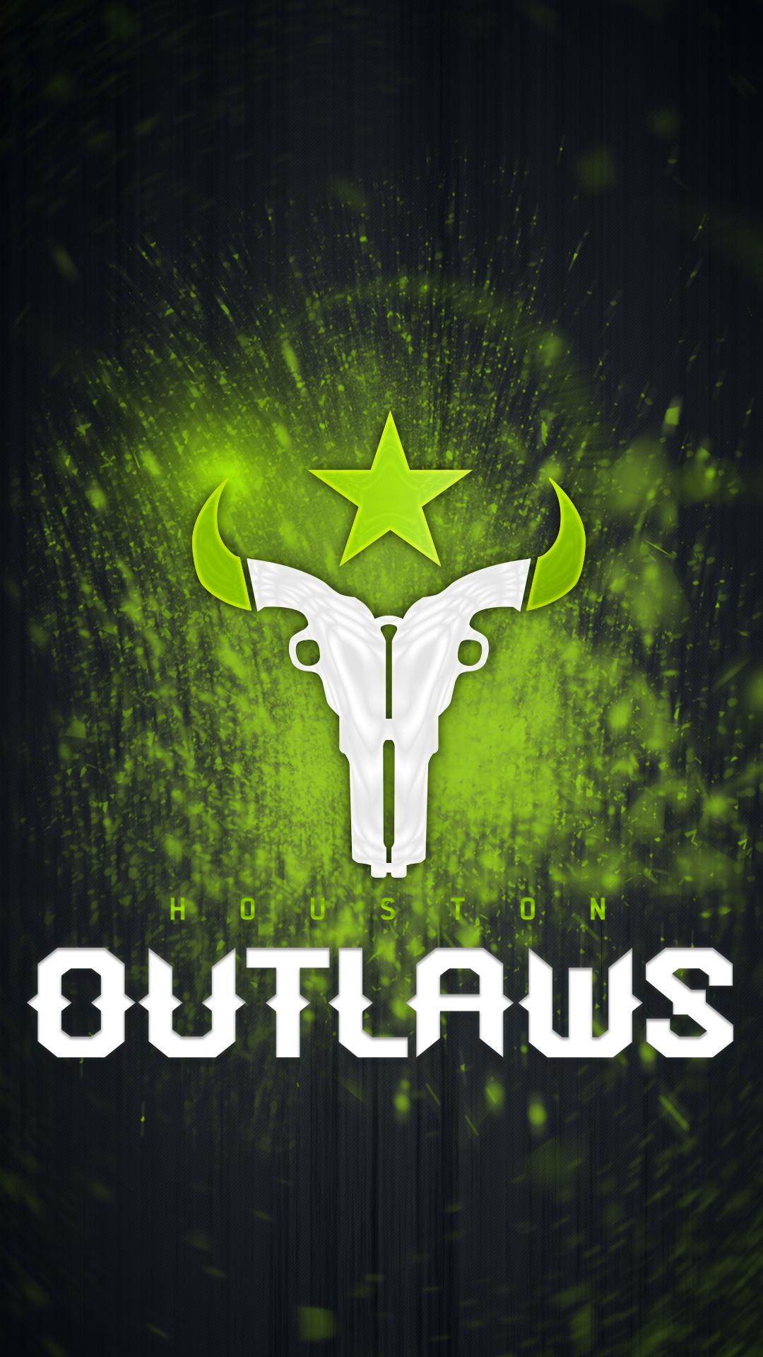 Wallpaper Overwatch League Houston Outlaws E Sports 1080x1920
