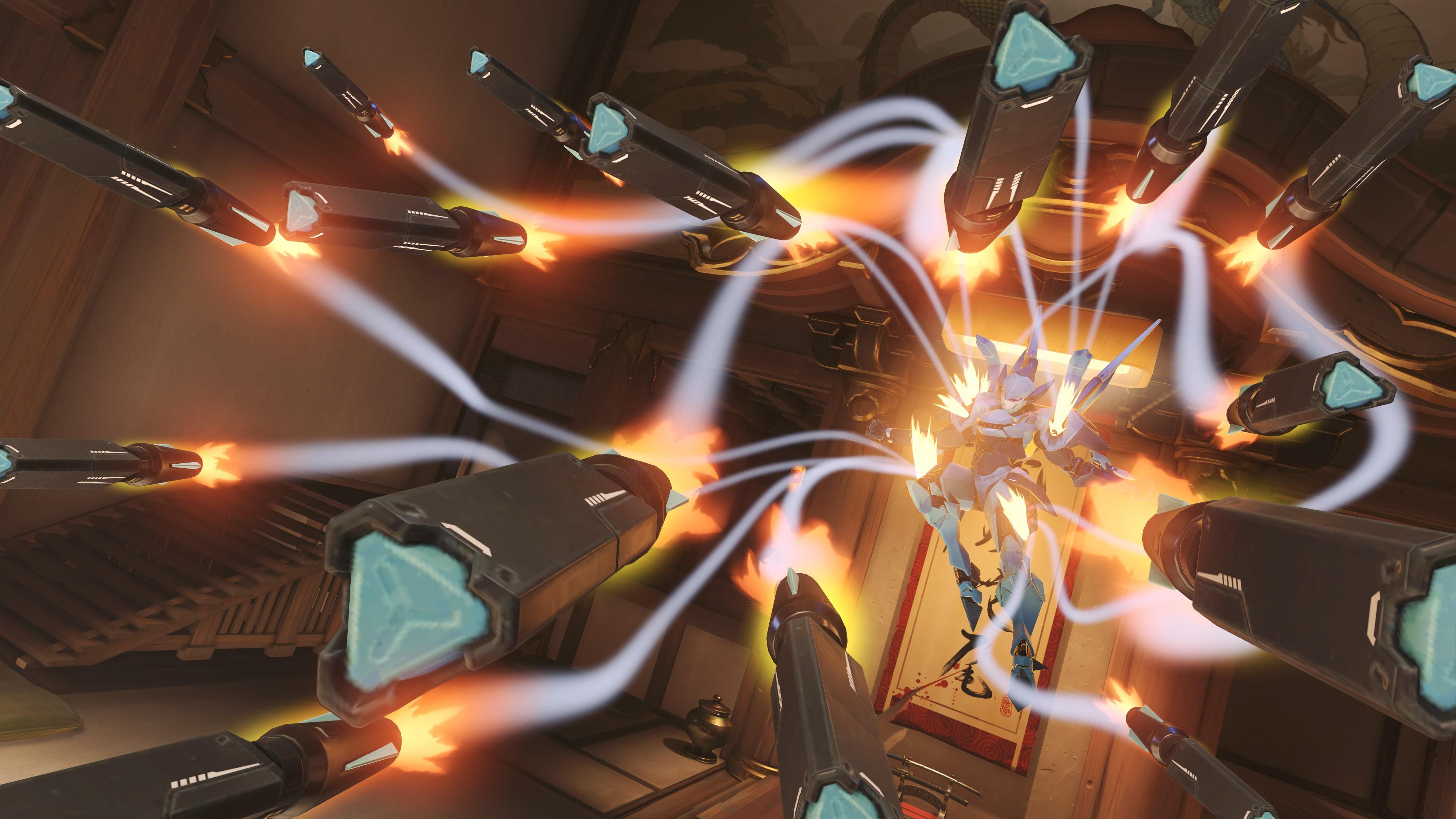 Wallpaper Pharah Overwatch Hanamura Overwatch Machine Games