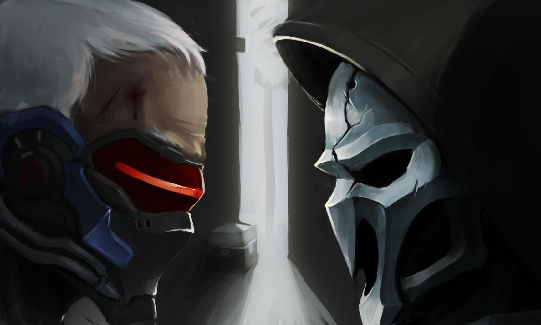 Wallpaper Soldier 76 Reaper Overwatch Video Games