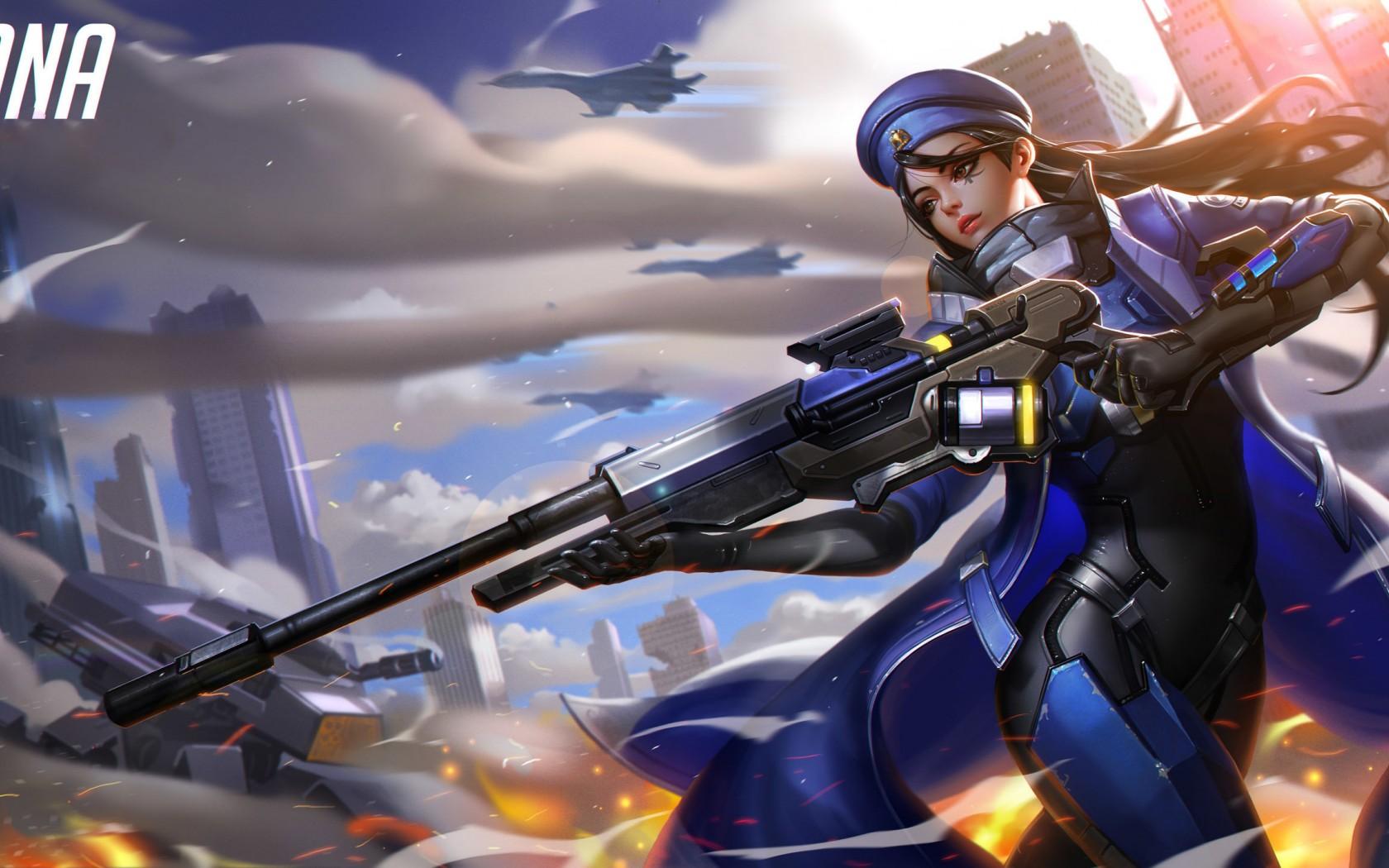 Wallpaper Overwatch Ana Blizzard Entertainment Girl
