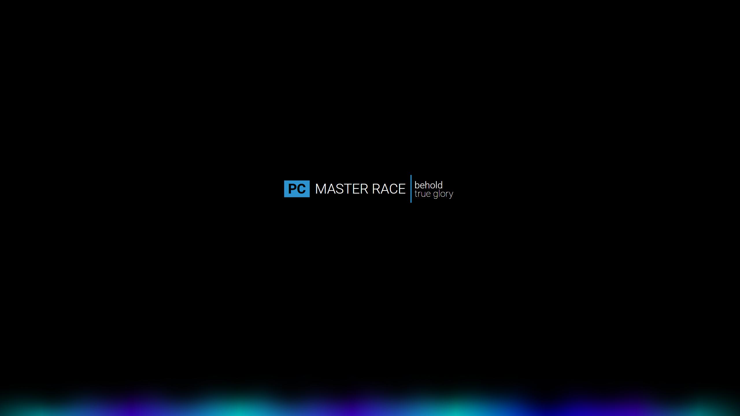 Wallpaper Pc Master Race Dark 2560x1440 Blazbluegirl