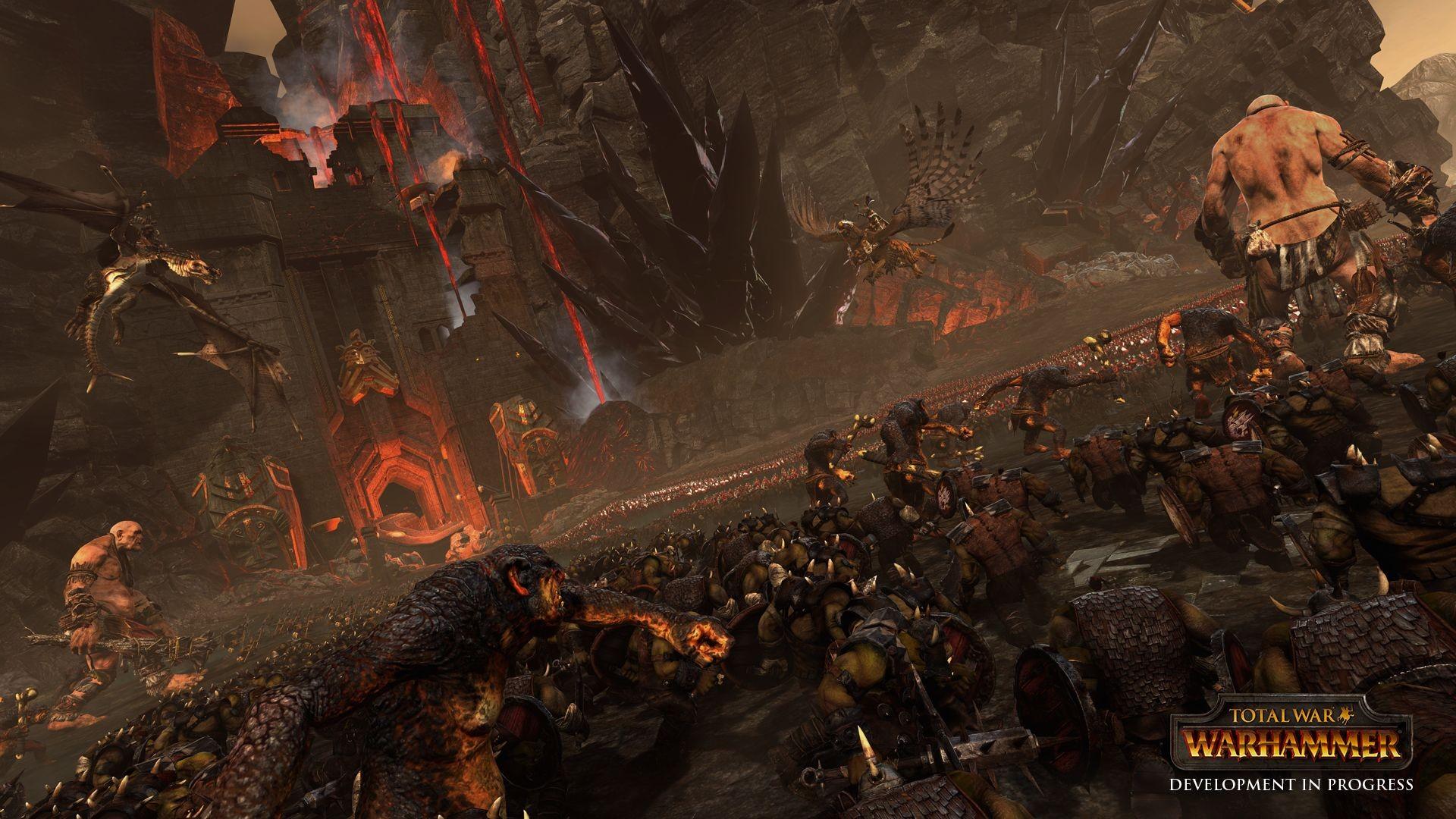 Wallpaper Pc Gaming Mythology Total War Warhammer Orcs Fantasy