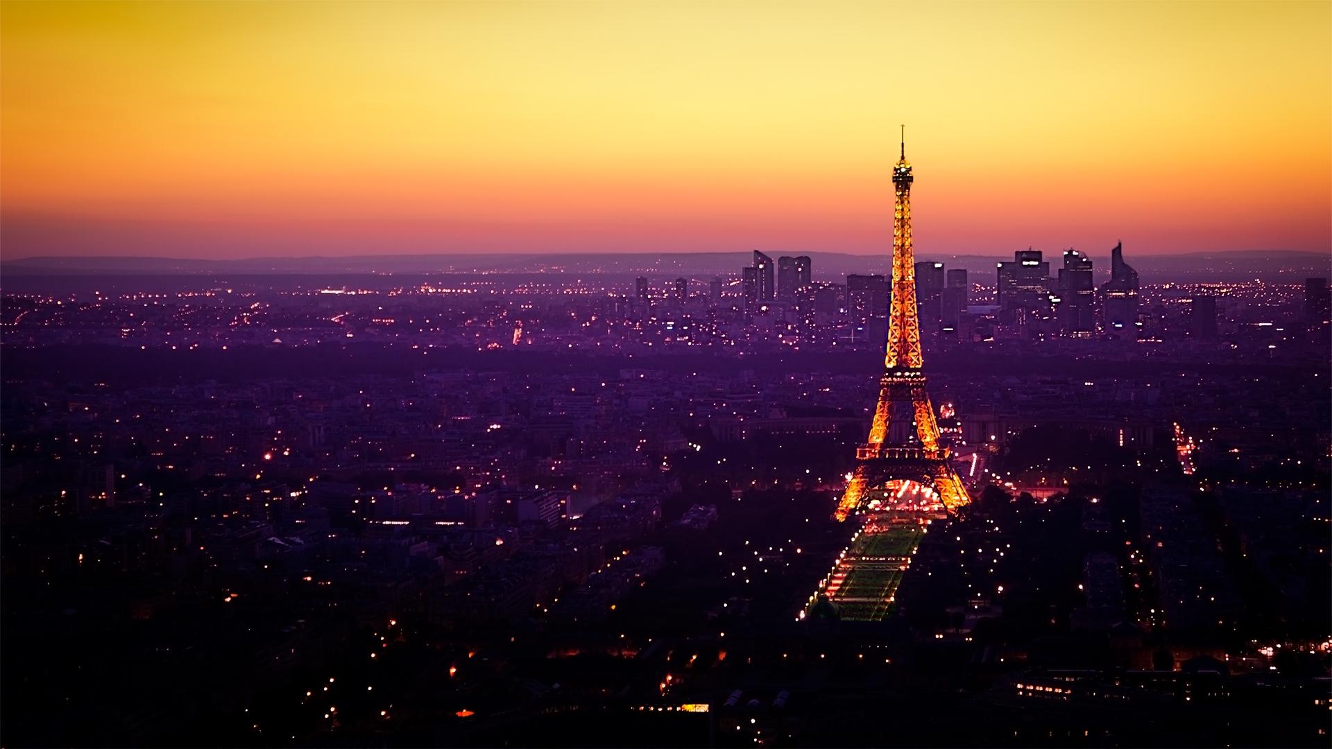 デスクトップ壁紙 パリ フランス エッフェル塔 夕暮れ ライト 19x1080 Coolwallpapers デスクトップ壁紙 Wallhere
