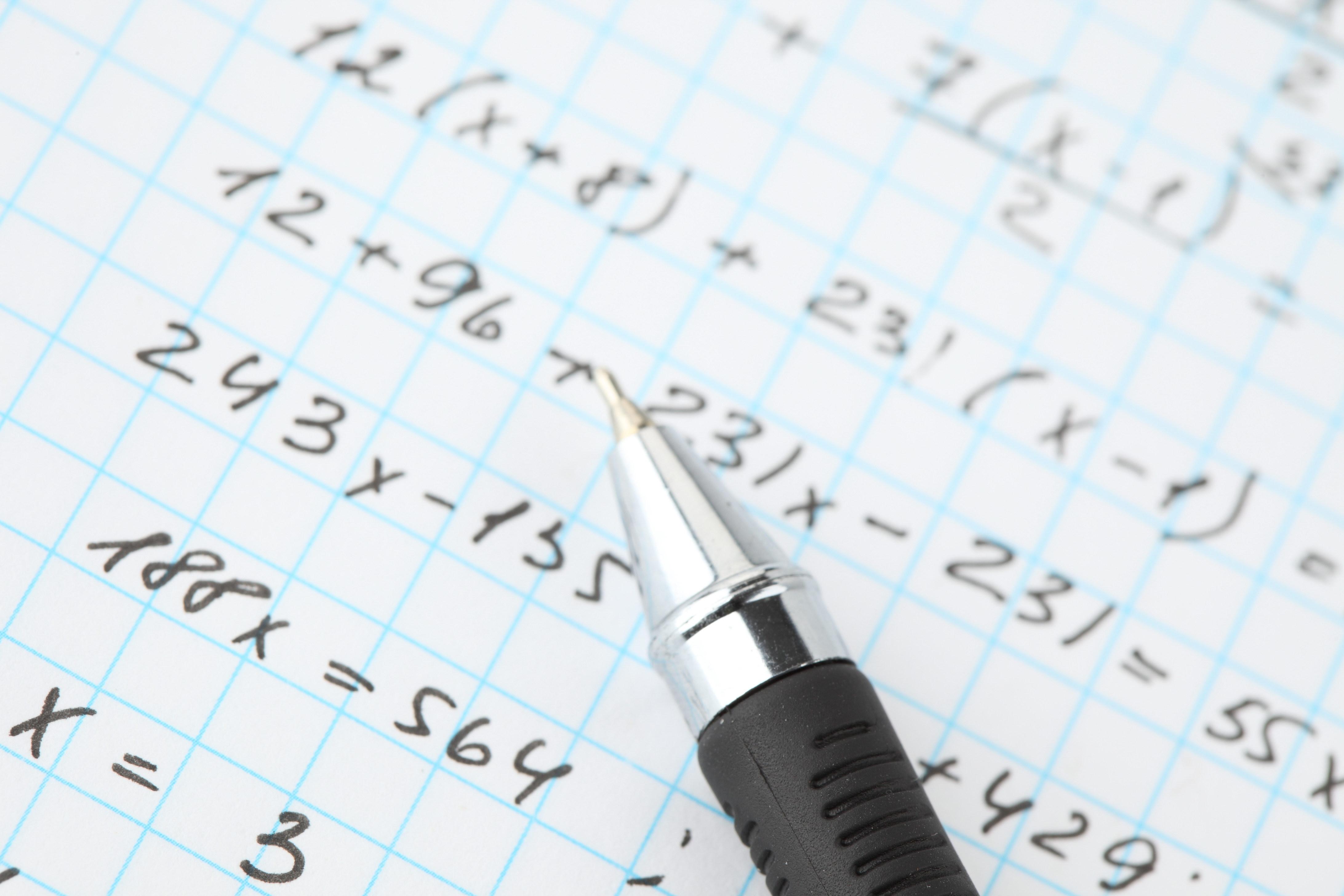 Wallpaper Pen Notebook Cell Formula Study 4368x2912