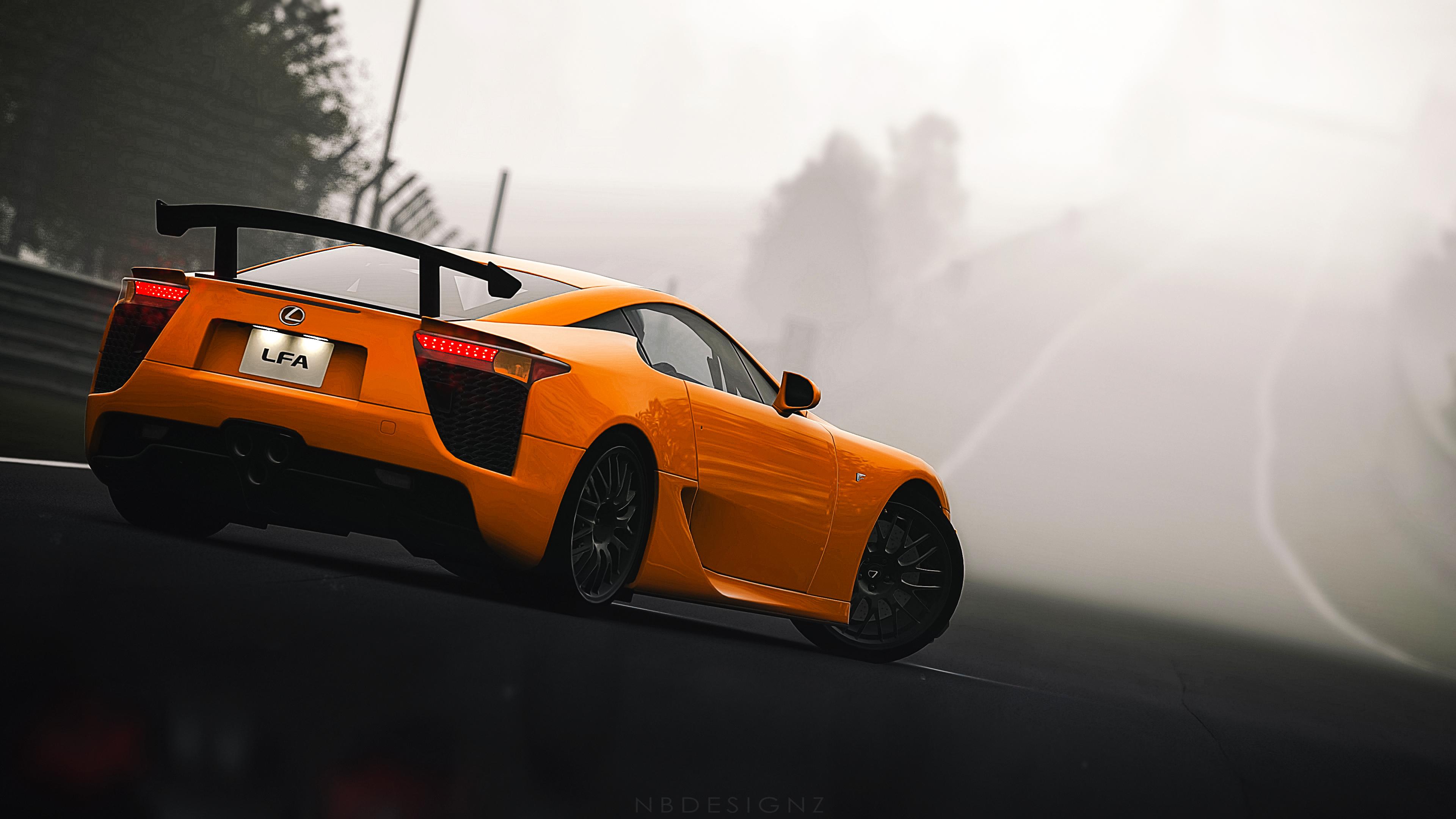 Lexus Sports Car Orange