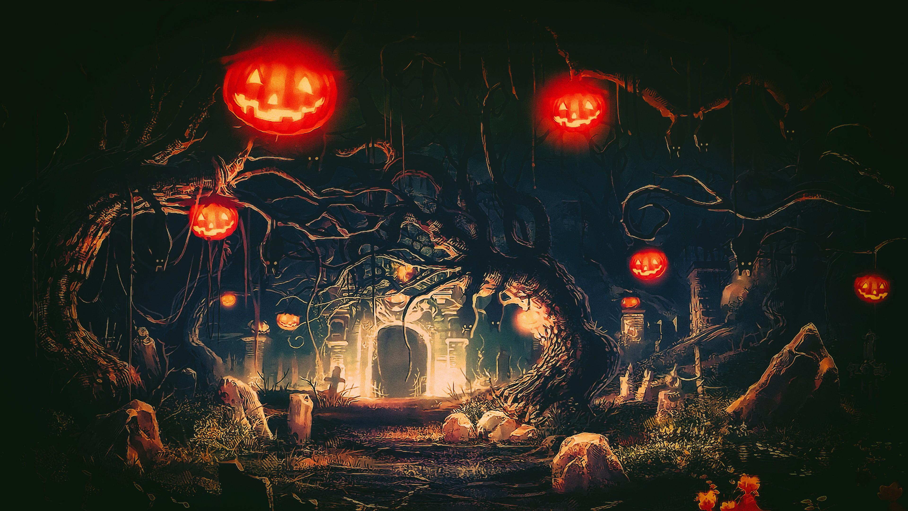 Beautiful Wallpaper Halloween Light - Photoshop-fantasy-art-night-Halloween-pumpkin-artwork-Terror-light-flower-lighting-darkness-screenshot-computer-wallpaper-christmas-decoration-16219  Image_218299.jpg