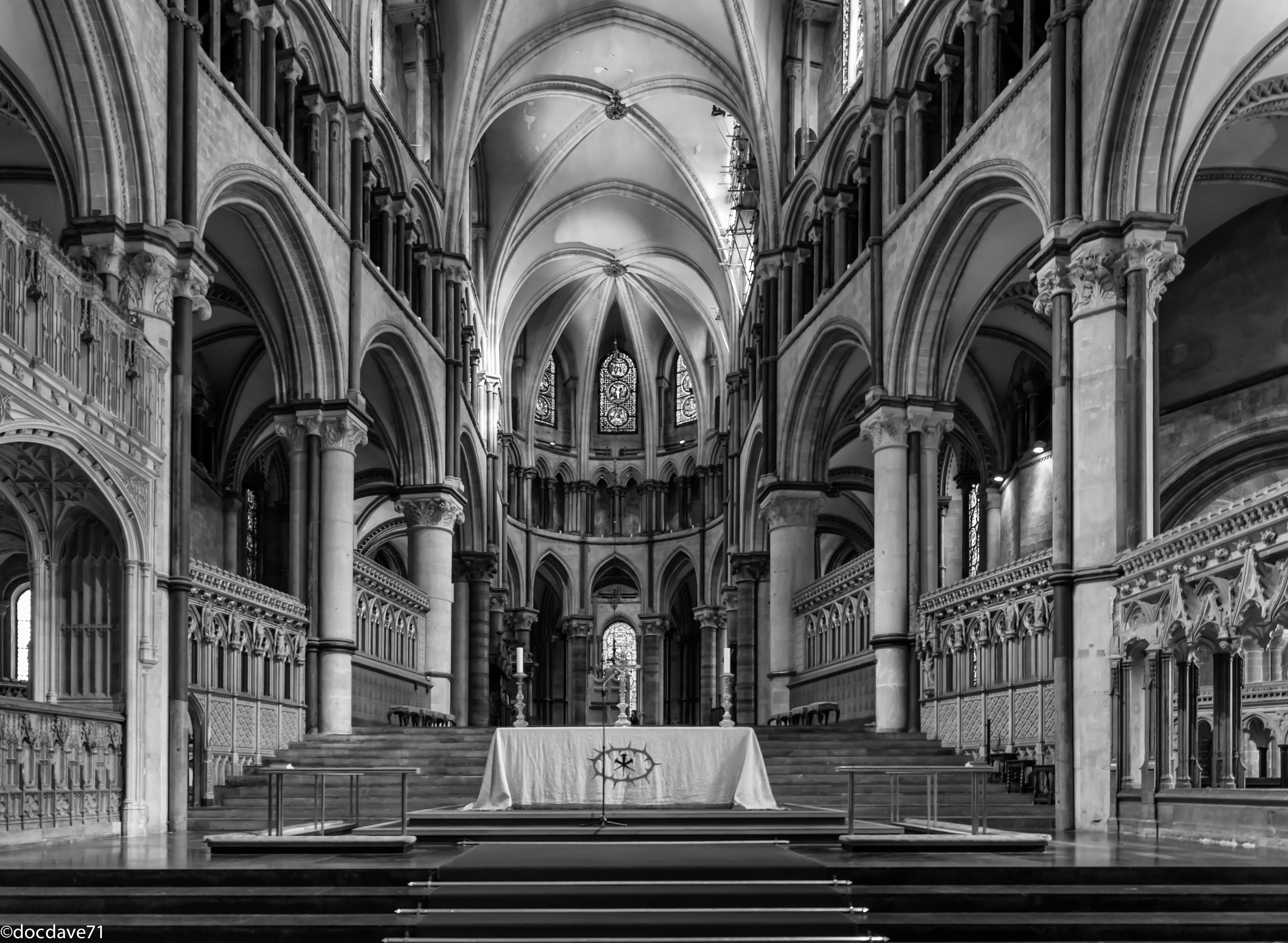 Gothic ornament in architecture and interior