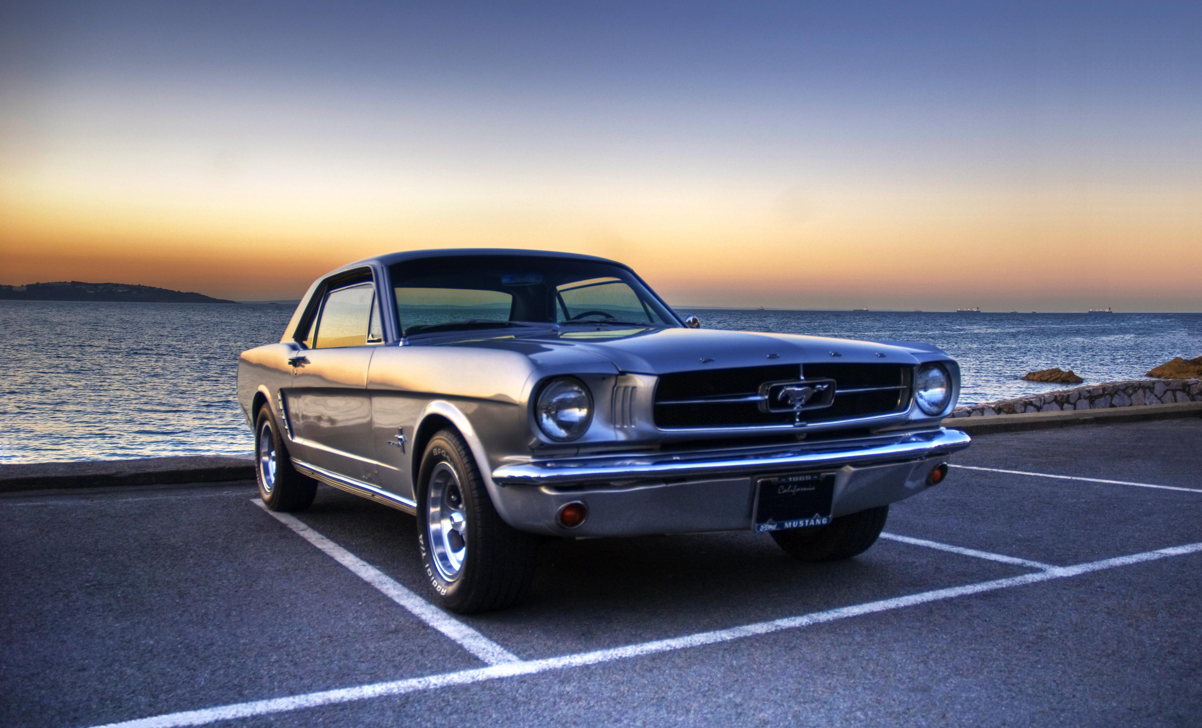 Wallpaper shop sunset sea HDR vintage sports car Ford