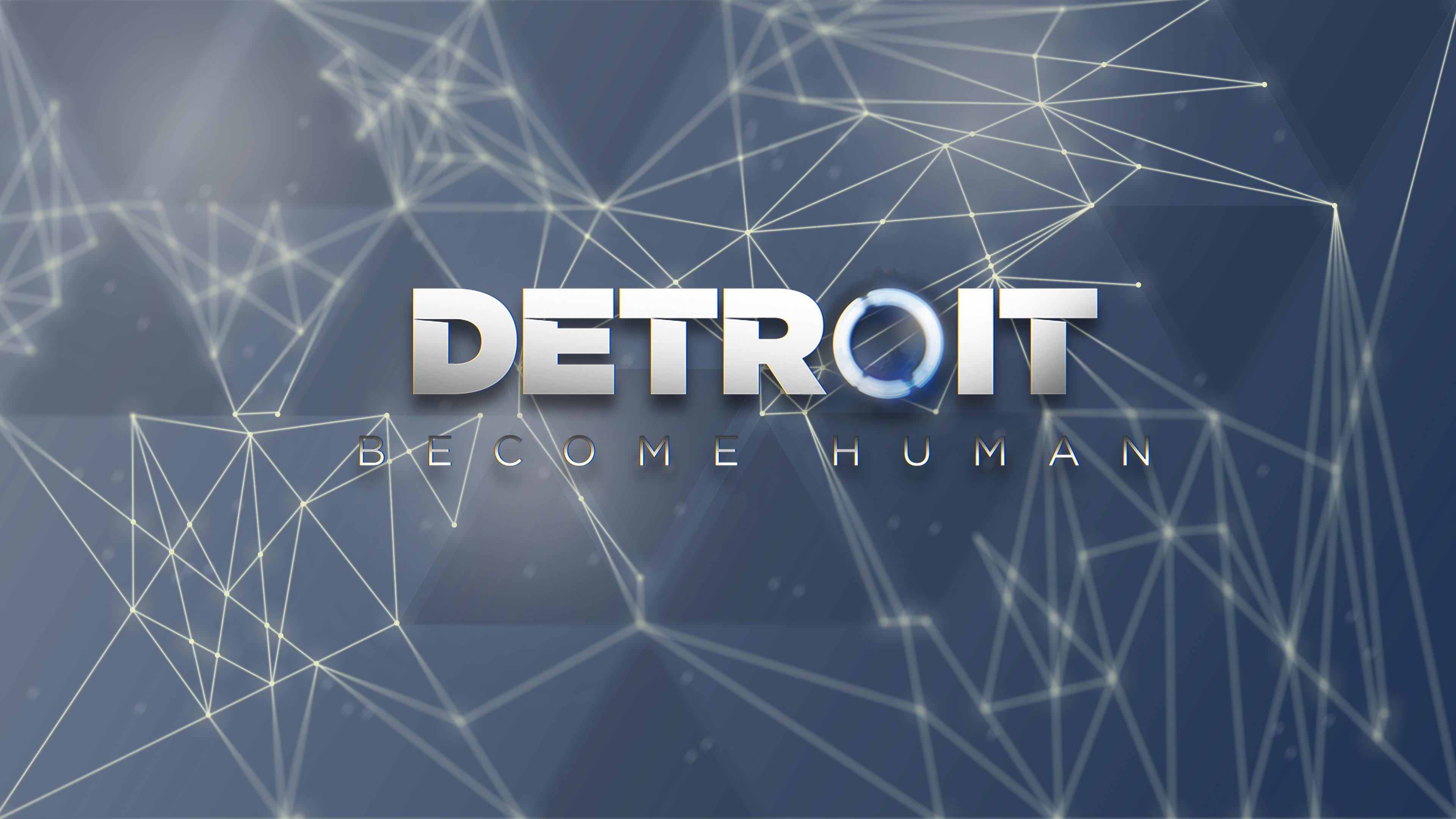 Wallpaper Plexus Detroit Become Human Lines Dots Blue