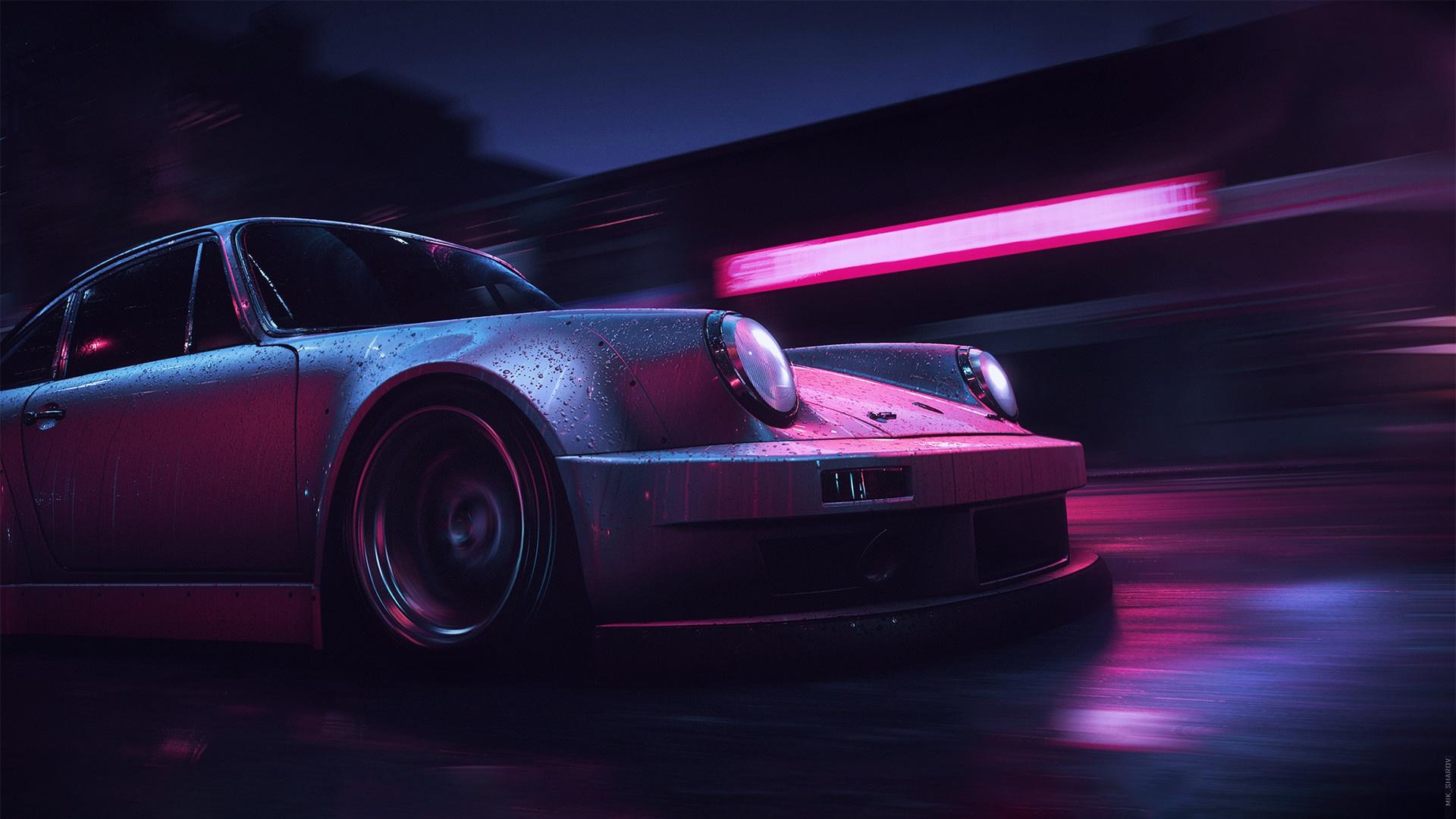 Wallpaper  vehicle, digital art, car, Porsche 911 Carrera