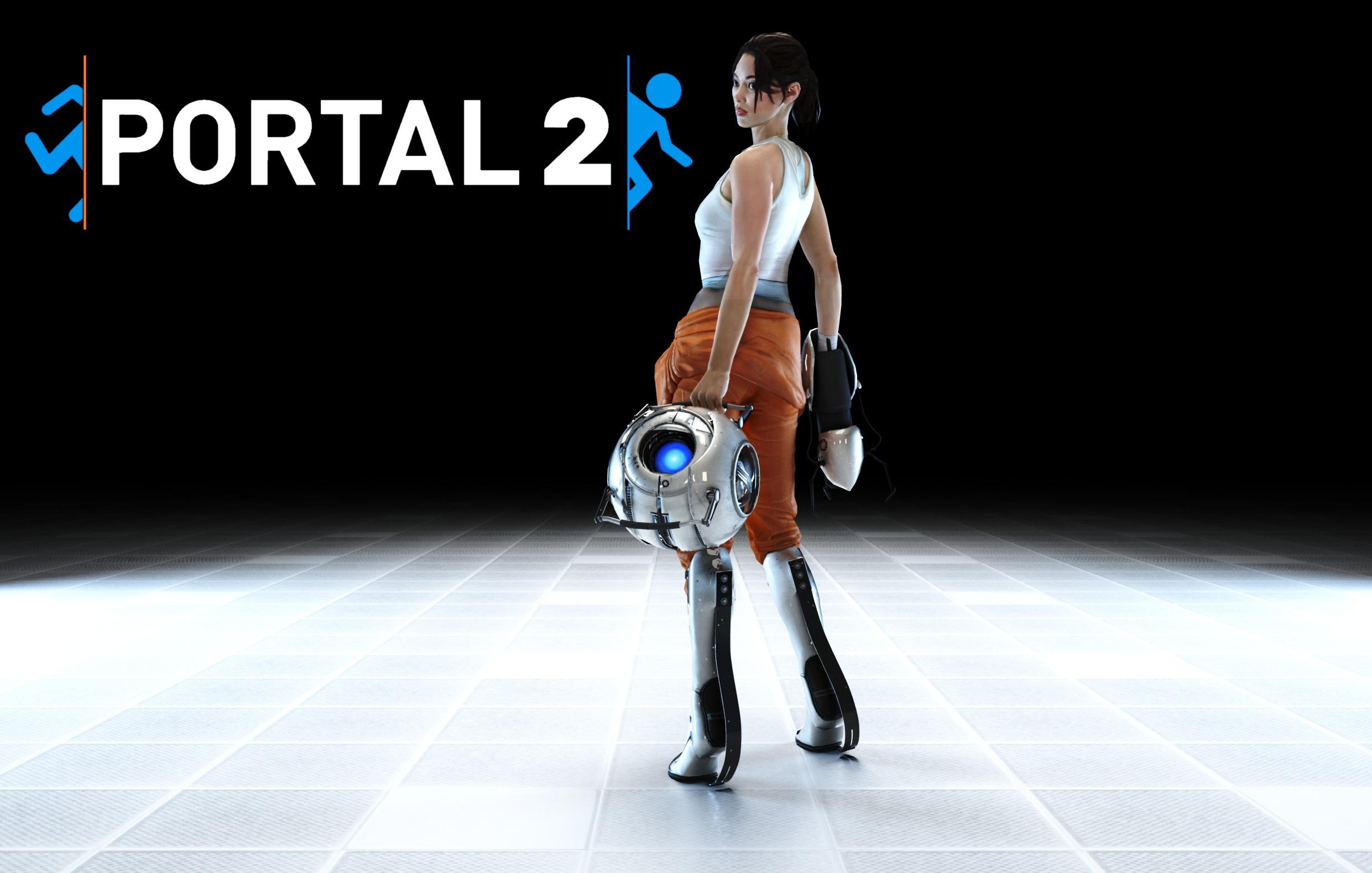 Wallpaper Portal Game Portal 2 Portal Gun Chell Video