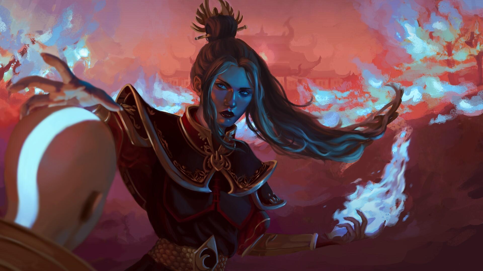 Wallpaper Princess Azula Avatar The Last Airbender Digital Art