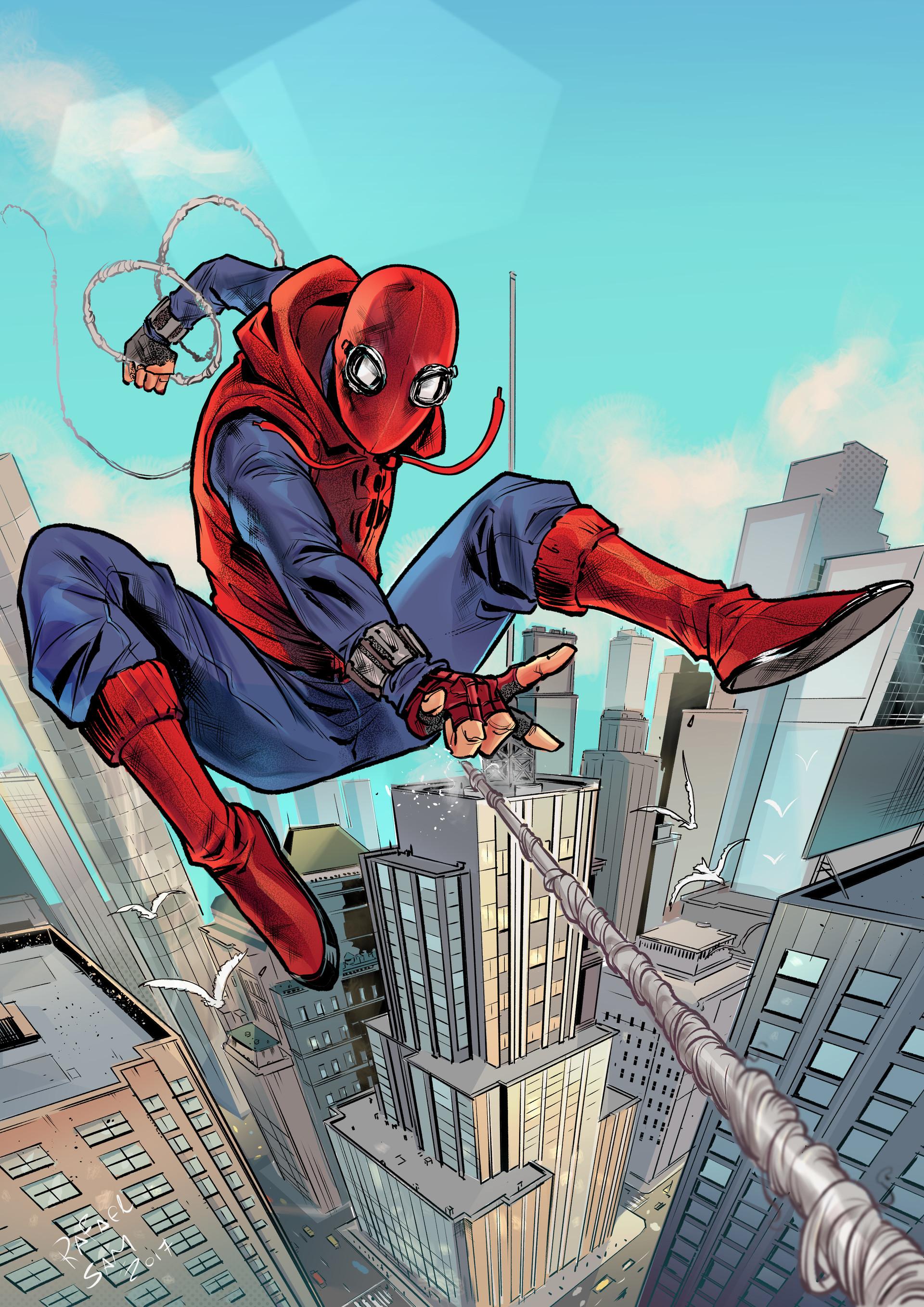 Wallpaper : Rafael Sam, illustration, Marvel Comics, Spider