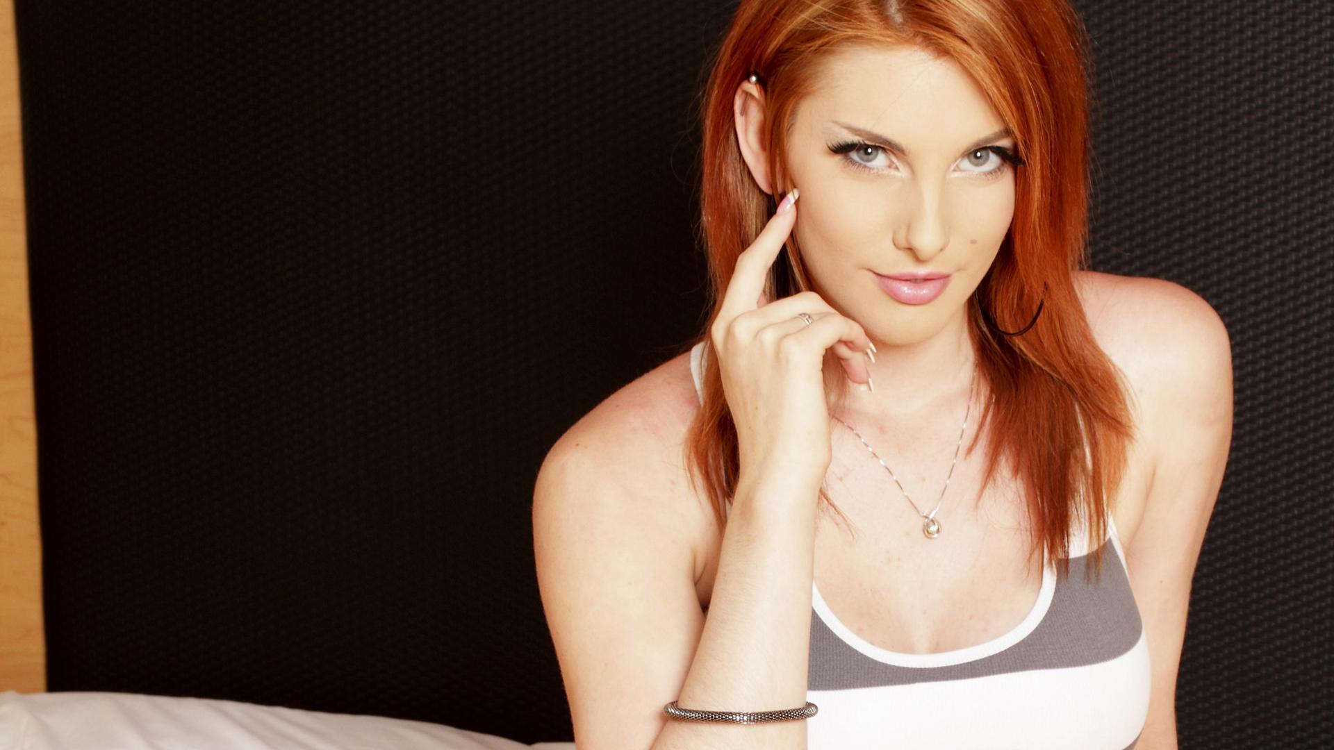 Wallpaper : Rainia Belle, redhead, pornstar, women