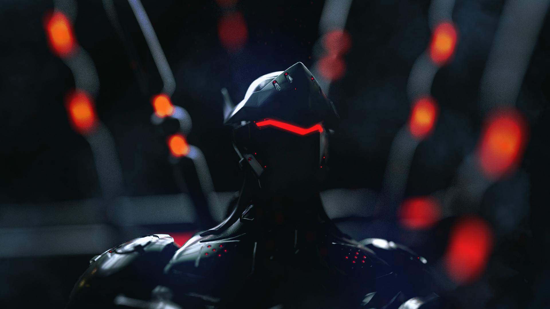 Wallpaper Rakan Khamash Genji Overwatch Neon Cyborg 1920x1080 Mbetley 1226457 Hd Wallpapers Wallhere