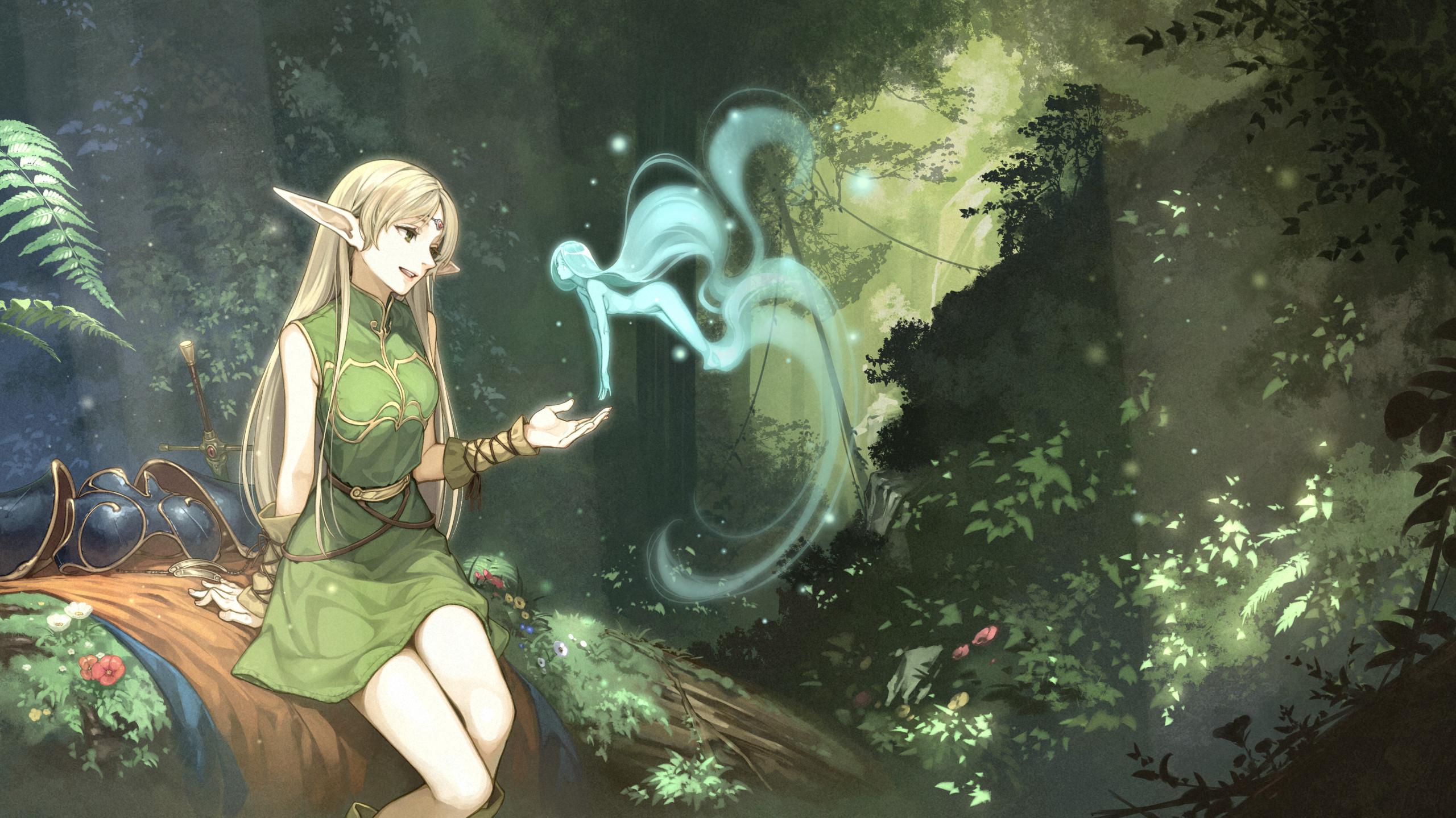 Wallpaper Record Of Lodoss War Deedlit Forest Elven Anime