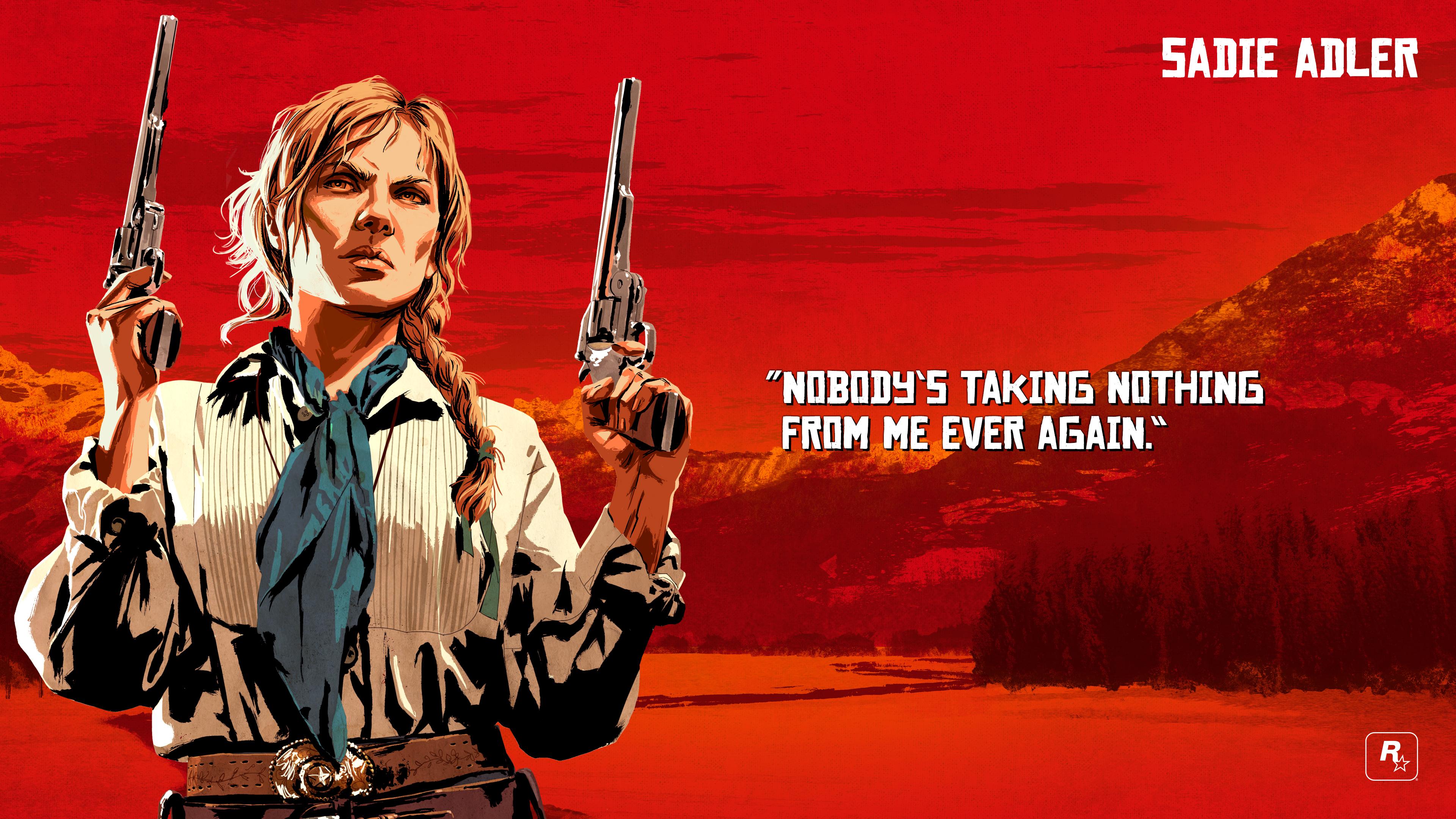 Wallpaper Red Dead Redemption 2 Rockstar Games Sadie Adler