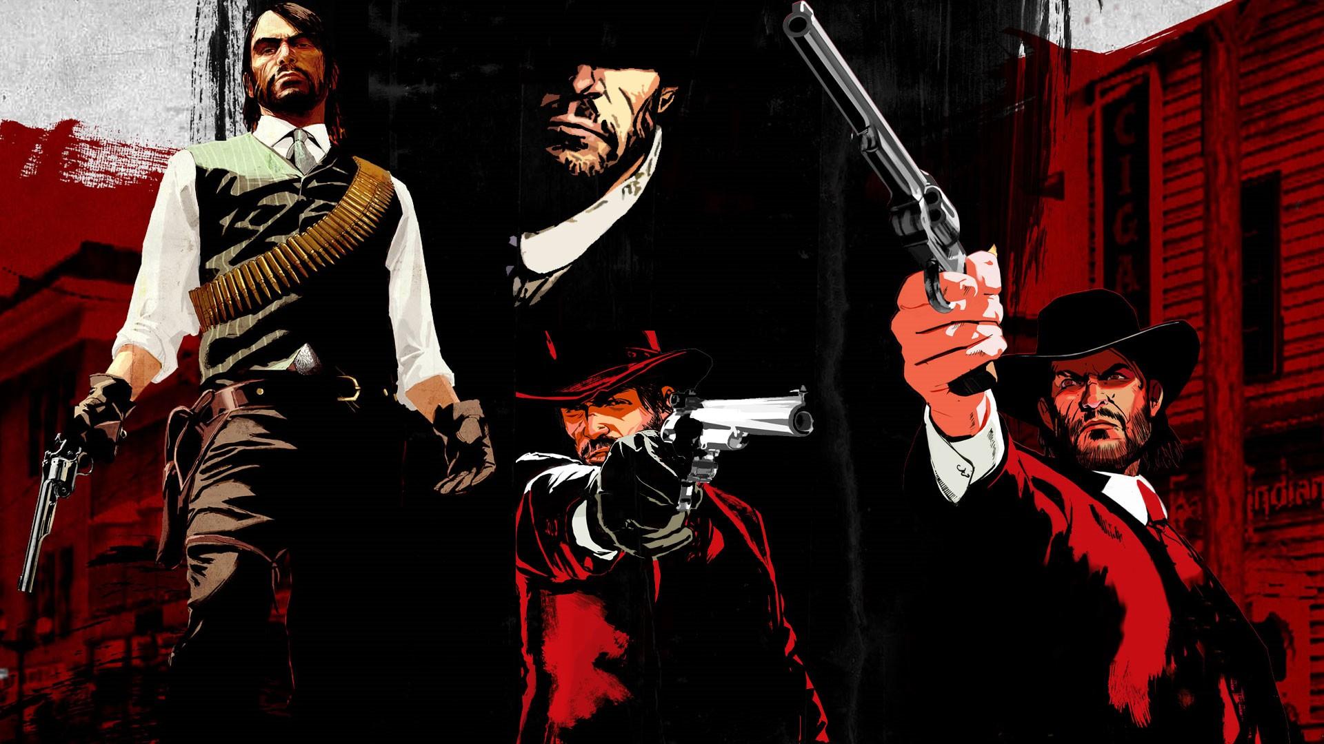 Wallpaper Red Dead Redemption John Marston Rockstar
