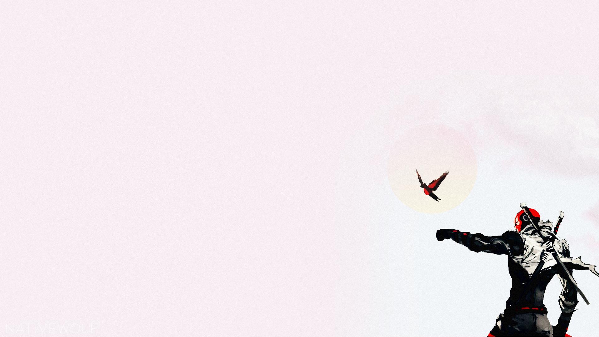 Masaüstü Kırmızı şapka Kuşlar Soyguncular Boyama Backgound