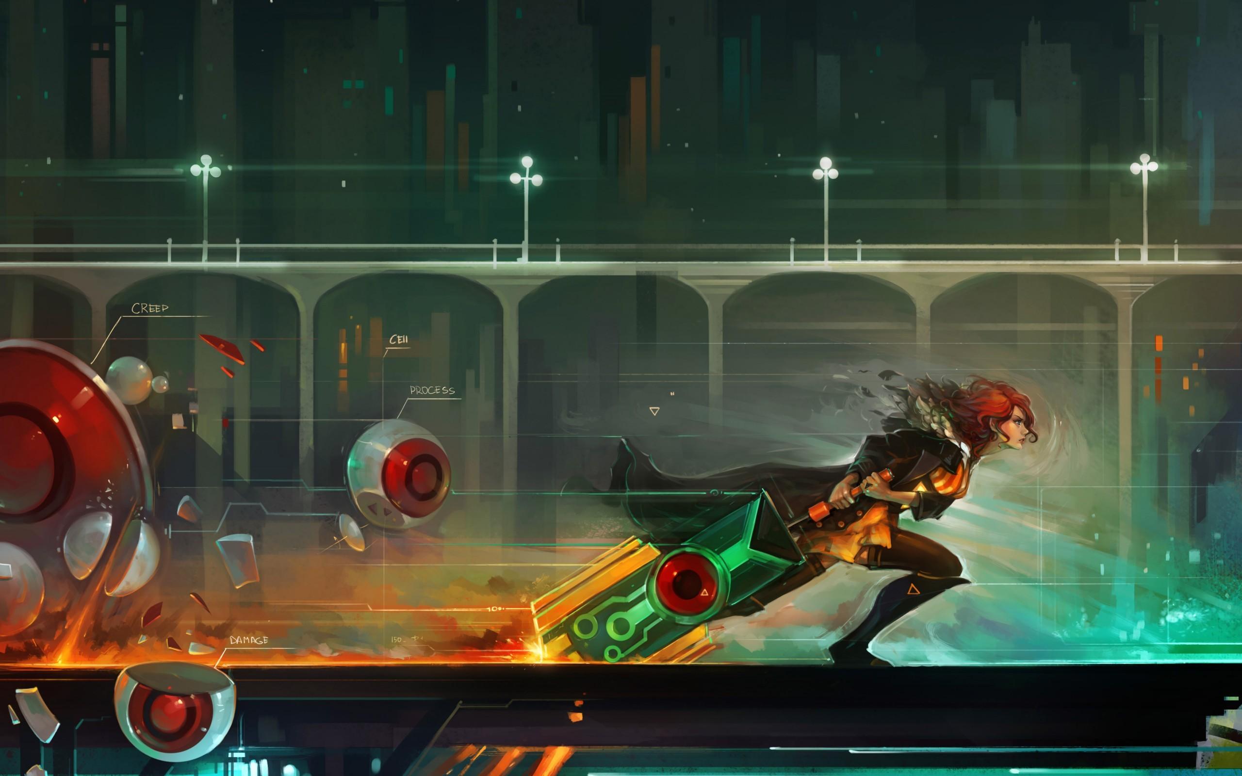 Wallpaper : Red Transistor, Supergiant Games, games