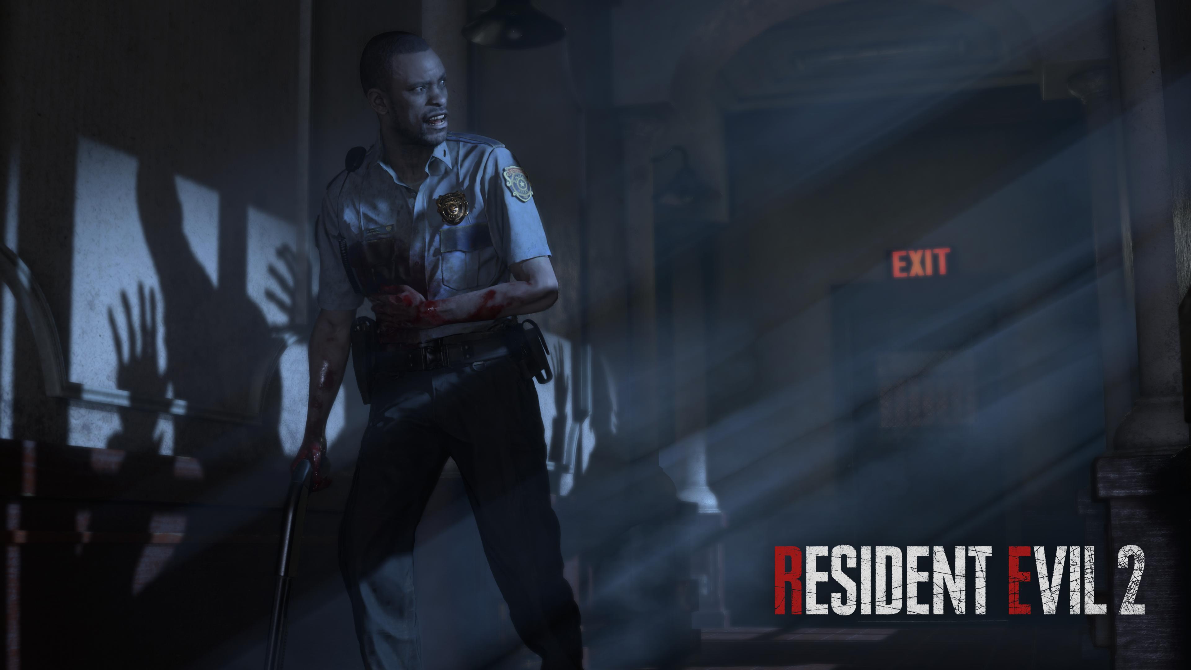 Wallpaper Resident Evil 2 Remake Horror Capcom 3840x2160