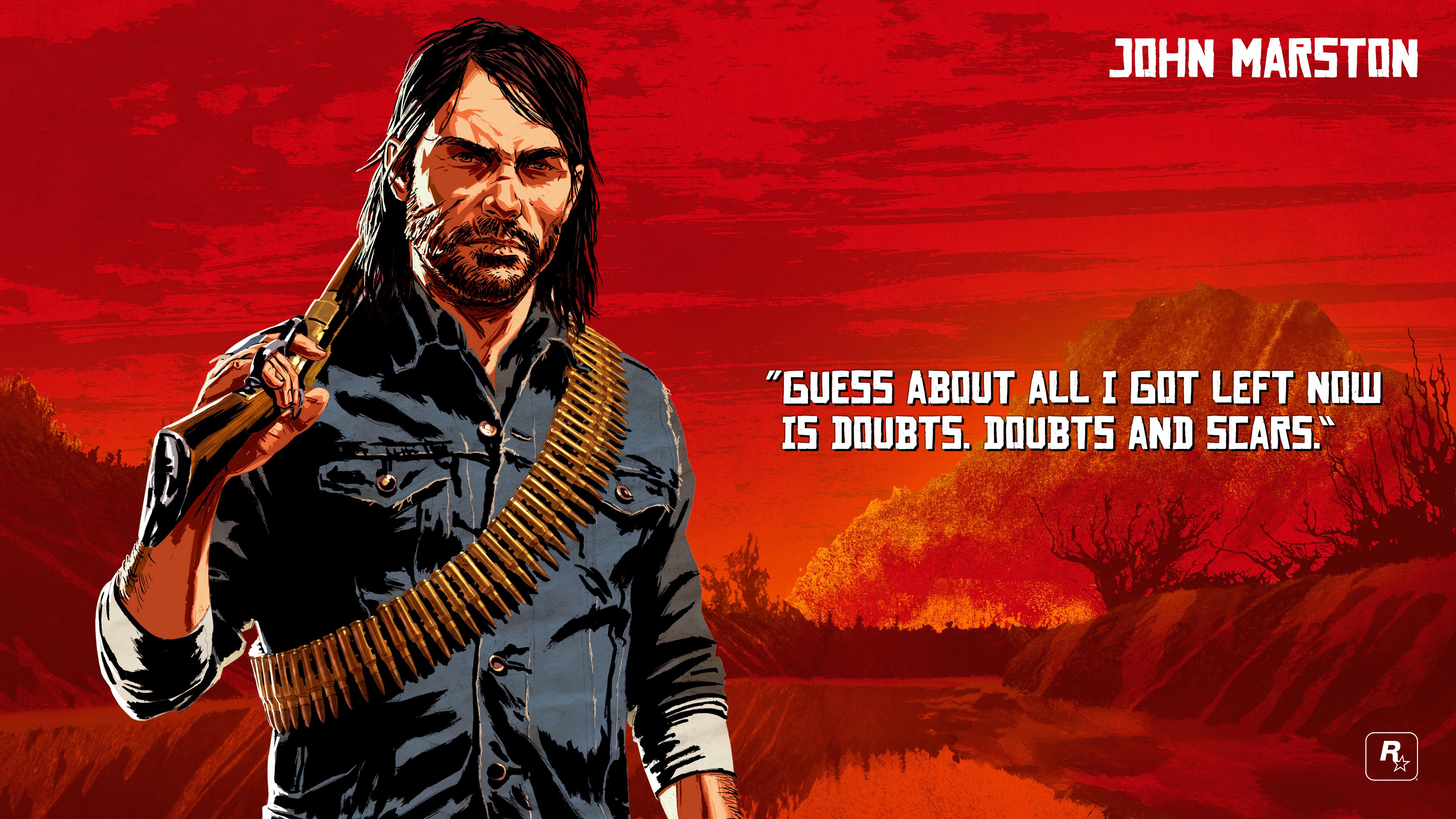 Wallpaper : Rockstar Games, Video game, Video Game Art, penebusan