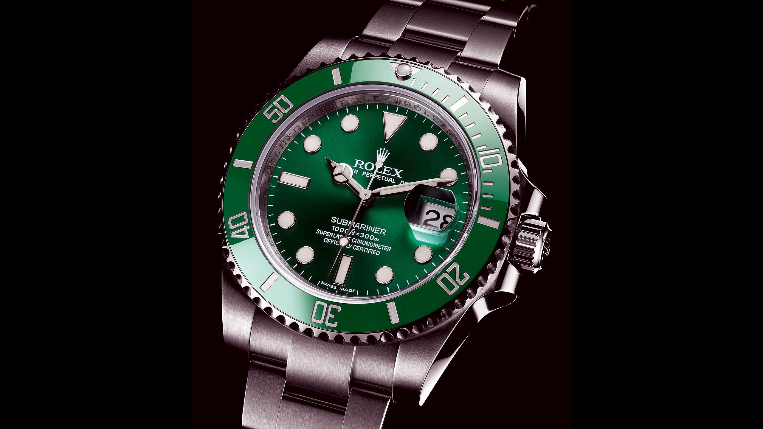 Wallpaper  Rolex, Green Submariner, Watch, Brand -8303