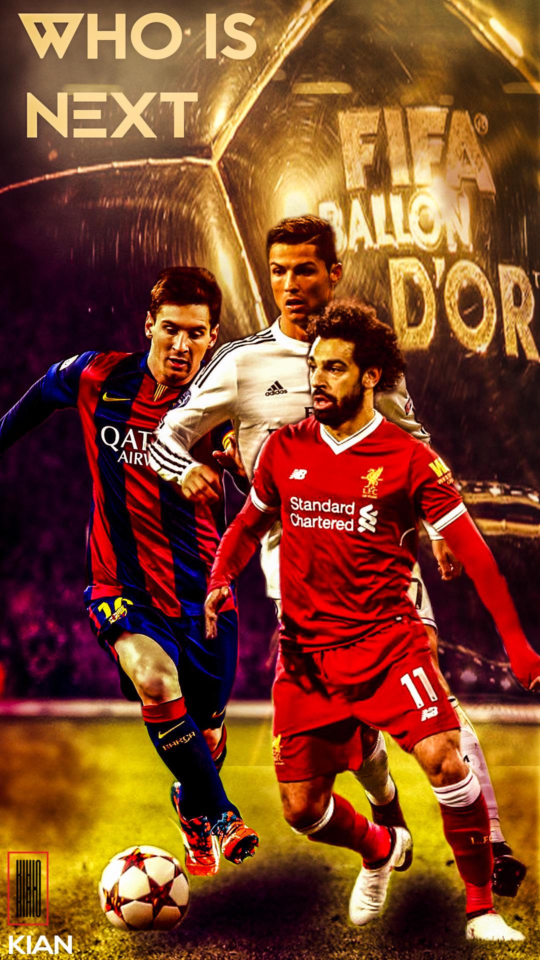 Fondos De Pantalla Ronaldo Lionel Messi Mohamed Salah