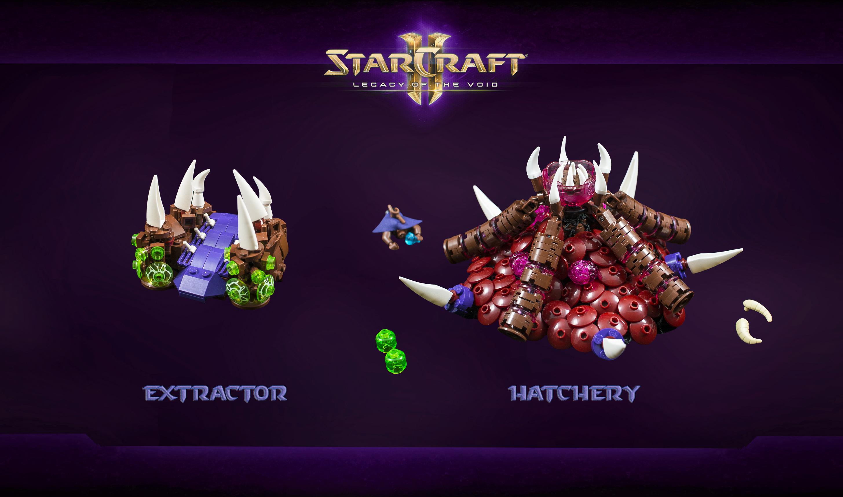 Wallpaper : SC, LEGO, StarCraft, blizzard, sc2, hatchery, moc, drone