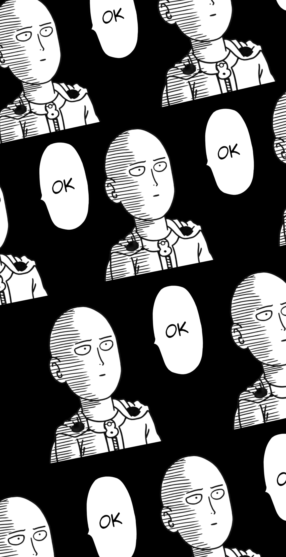 Wallpaper Saitama One Punch Man Anime Manga Amoled