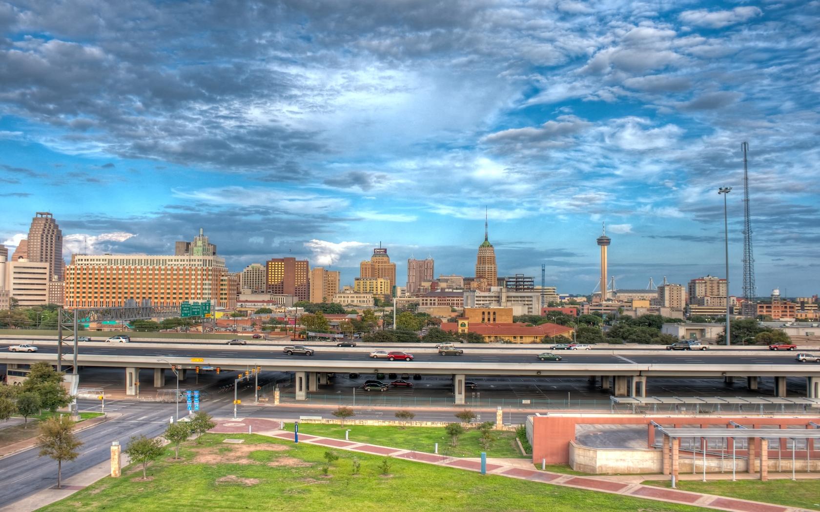 Wallpaper San Antonio Texas Road Bridge Building