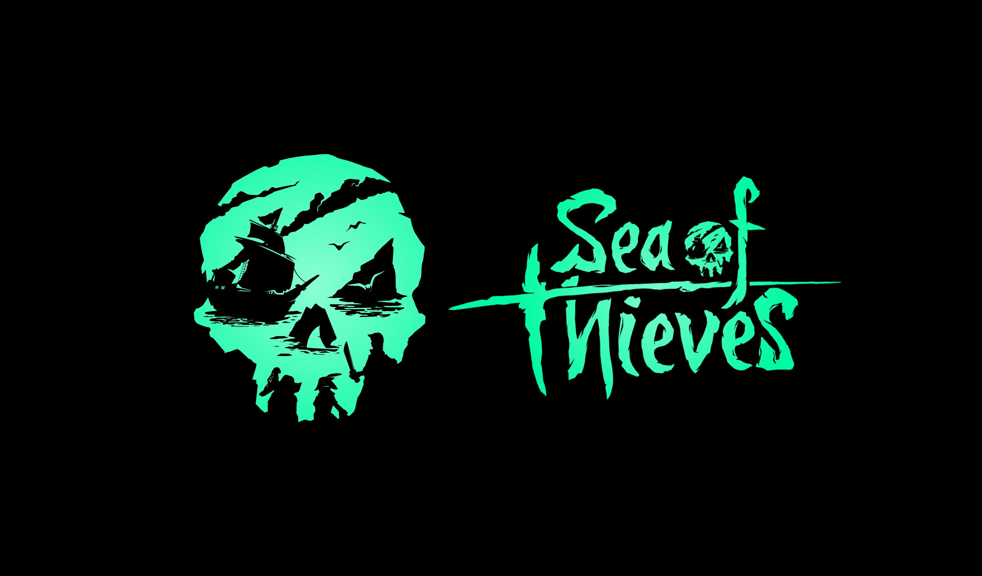 Wallpaper Sea Of Thieves Pc Gaming Gamers Black Background Skull Mask Logotype 4096x2404 Caminoymaite 1888539 Hd Wallpapers Wallhere
