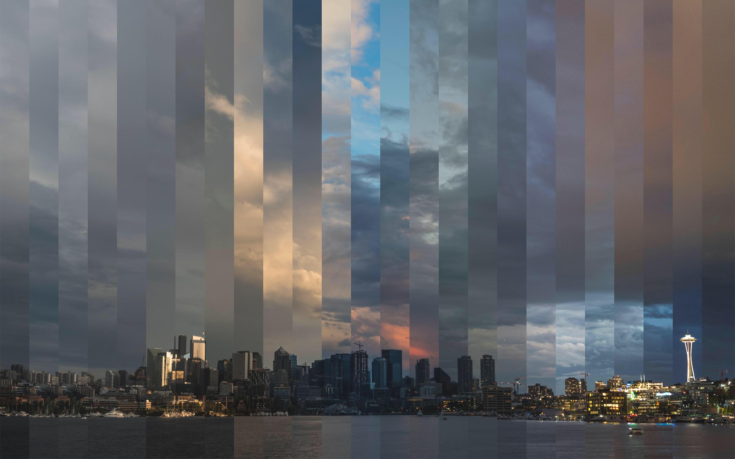 Fondos De Pantalla Seattle Timelapse Ciudad Horizonte