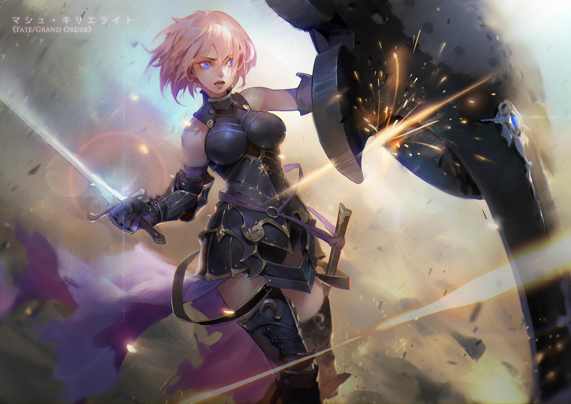 Wallpaper Shielder Fate Grand Order Shield Armor Magic
