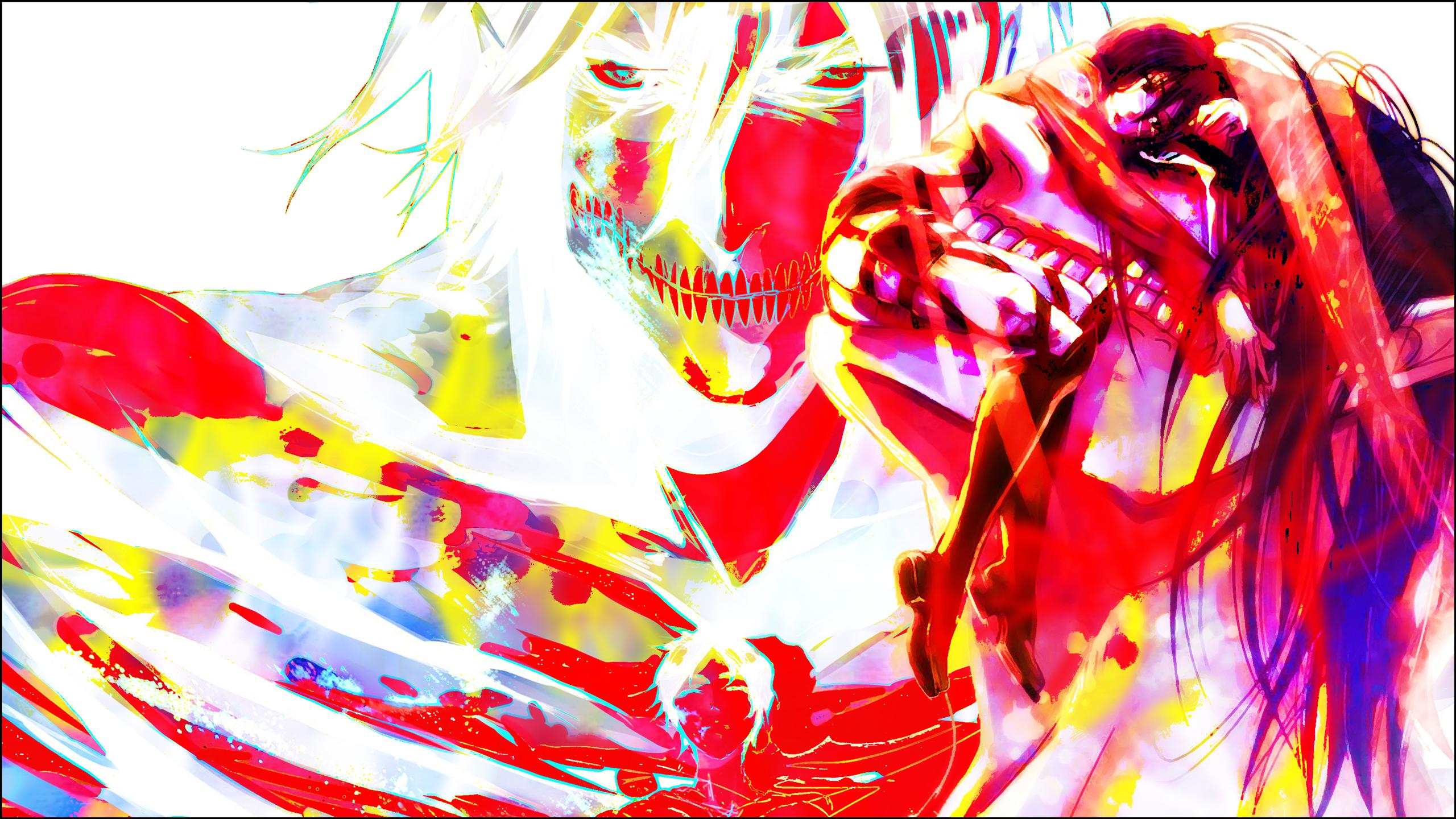 Wallpaper Shingeki No Kyojin Eren Jeager Psychedelic