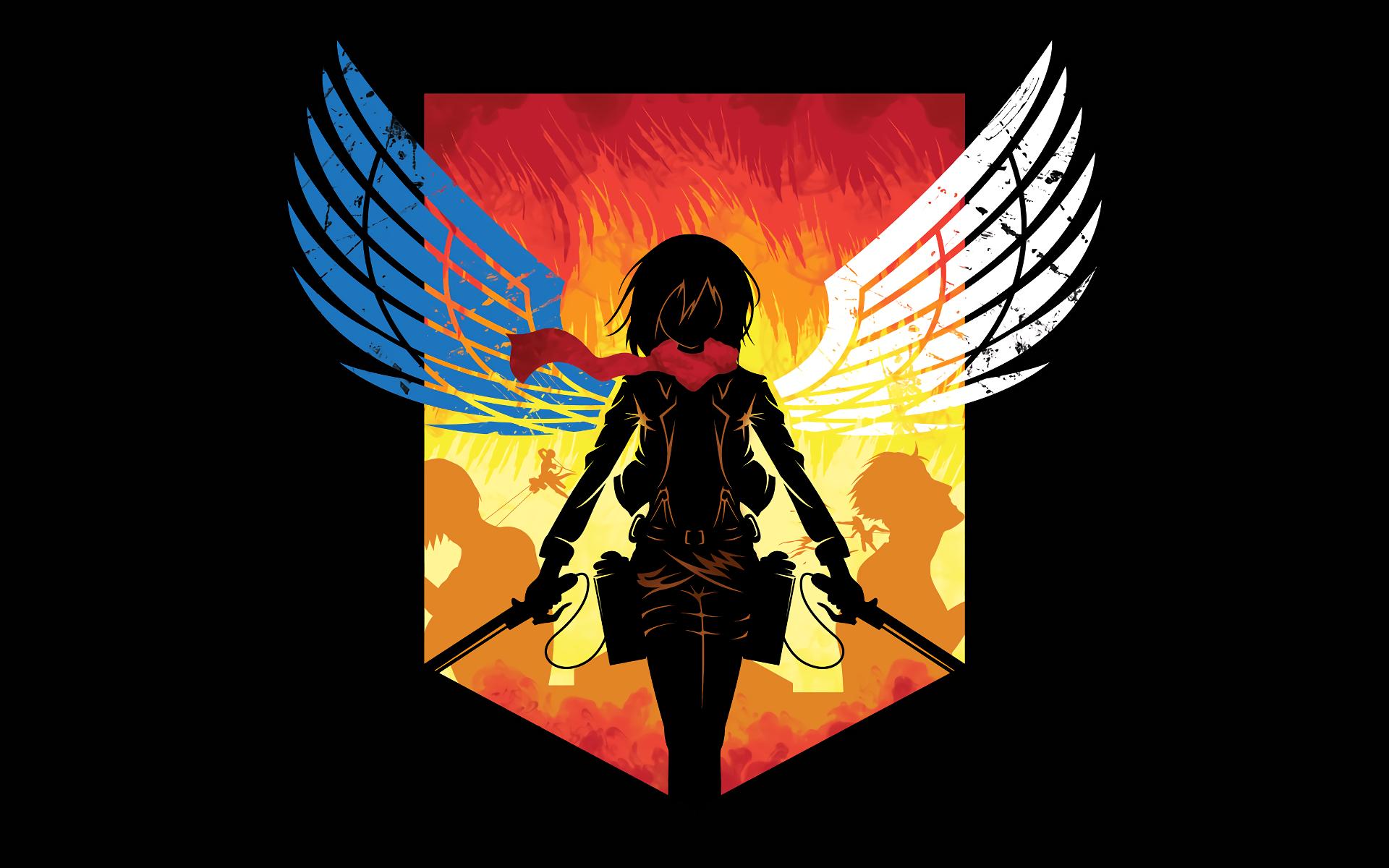 Wallpaper Shingeki No Kyojin Mikasa Ackerman Logo Scout