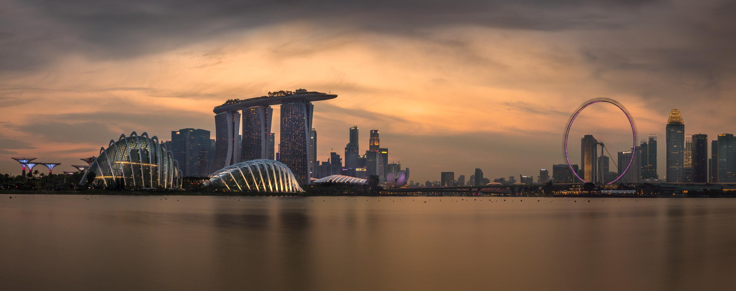 Wallpaper Singapore Landscape Building Cityscape Wide Angle